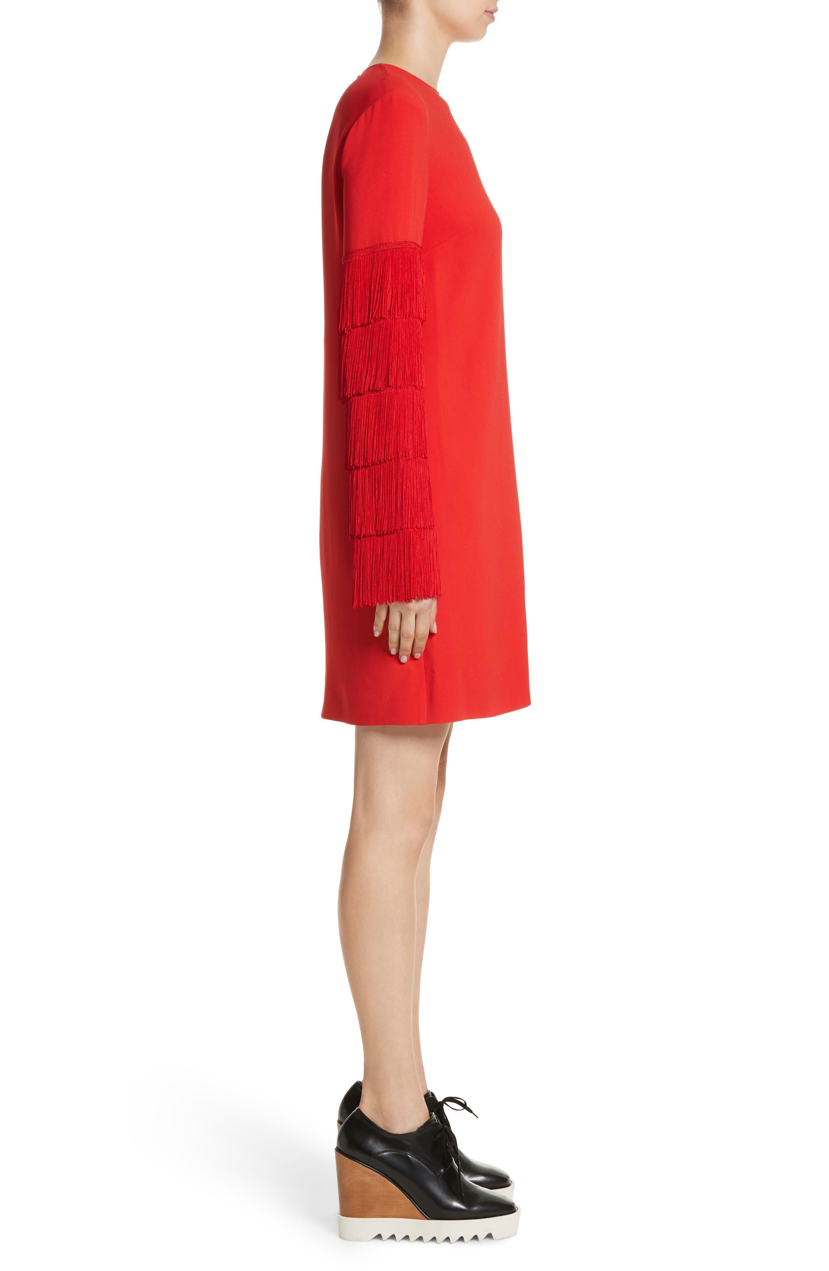 Alternate Image 5  - Stella McCartney Fringe Sleeve Stretch Cady Dress