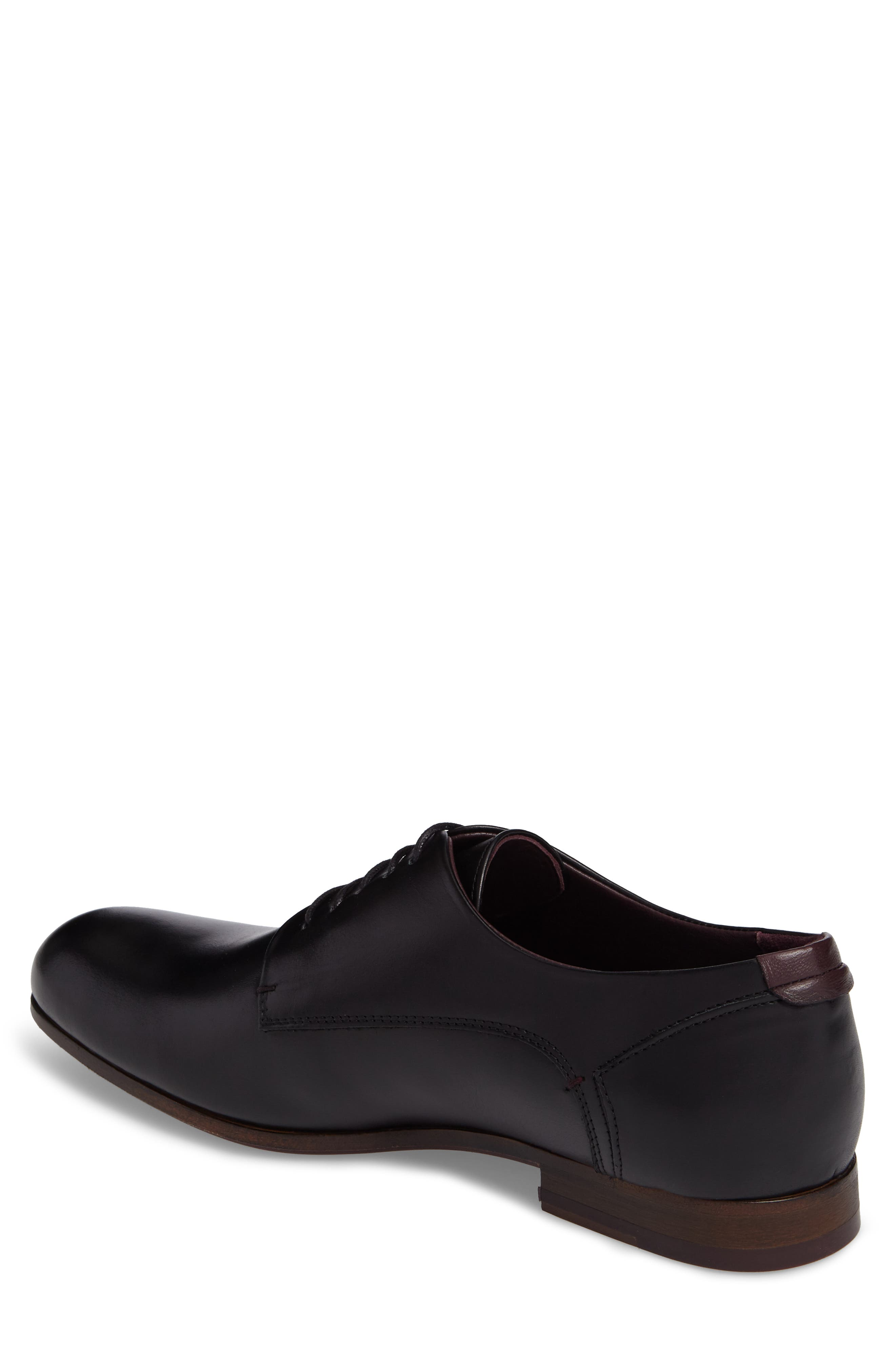 Avionn Plain Toe Derby,                             Alternate thumbnail 2, color,                             Black Leather