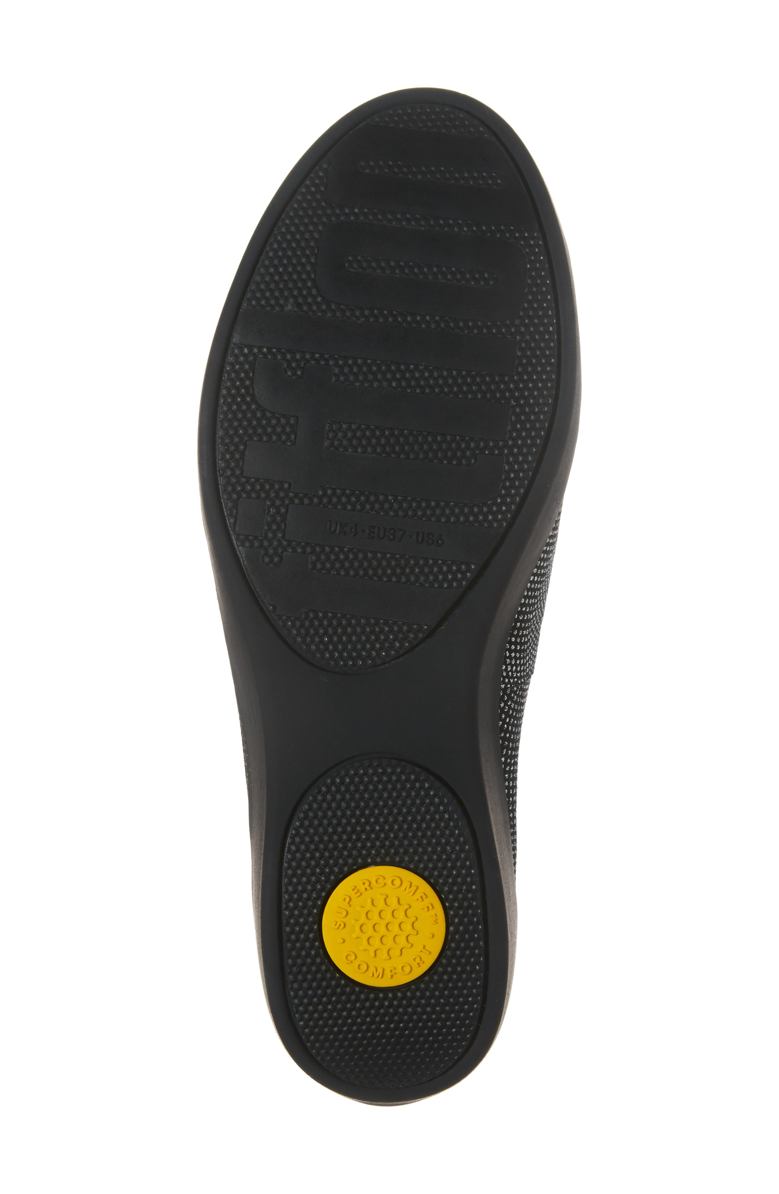 Superskate Glitter Dot Slip-On Sneaker,                             Alternate thumbnail 6, color,                             Black Glimmer Suede