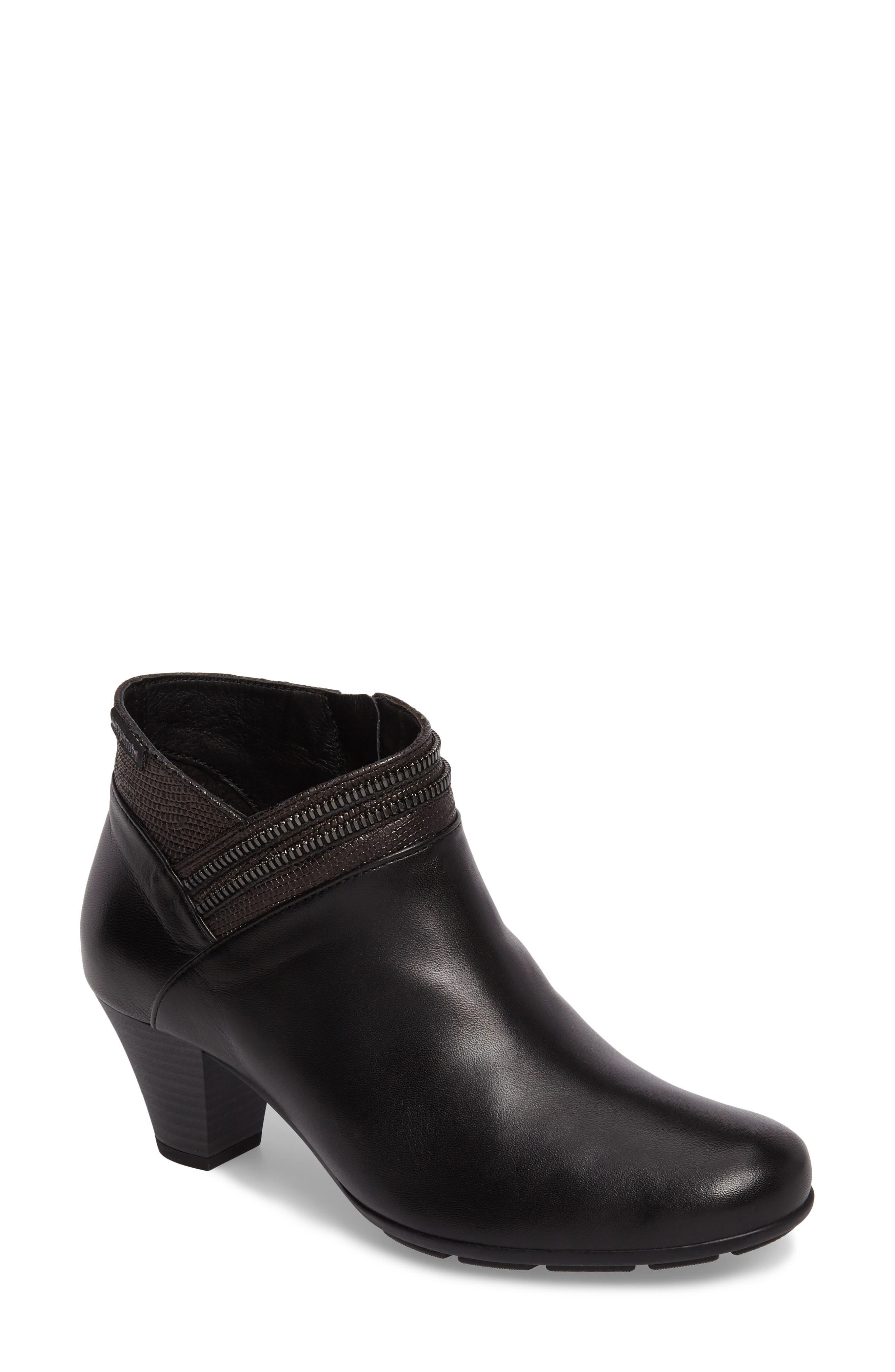 Britie Bootie,                         Main,                         color, Black Leather
