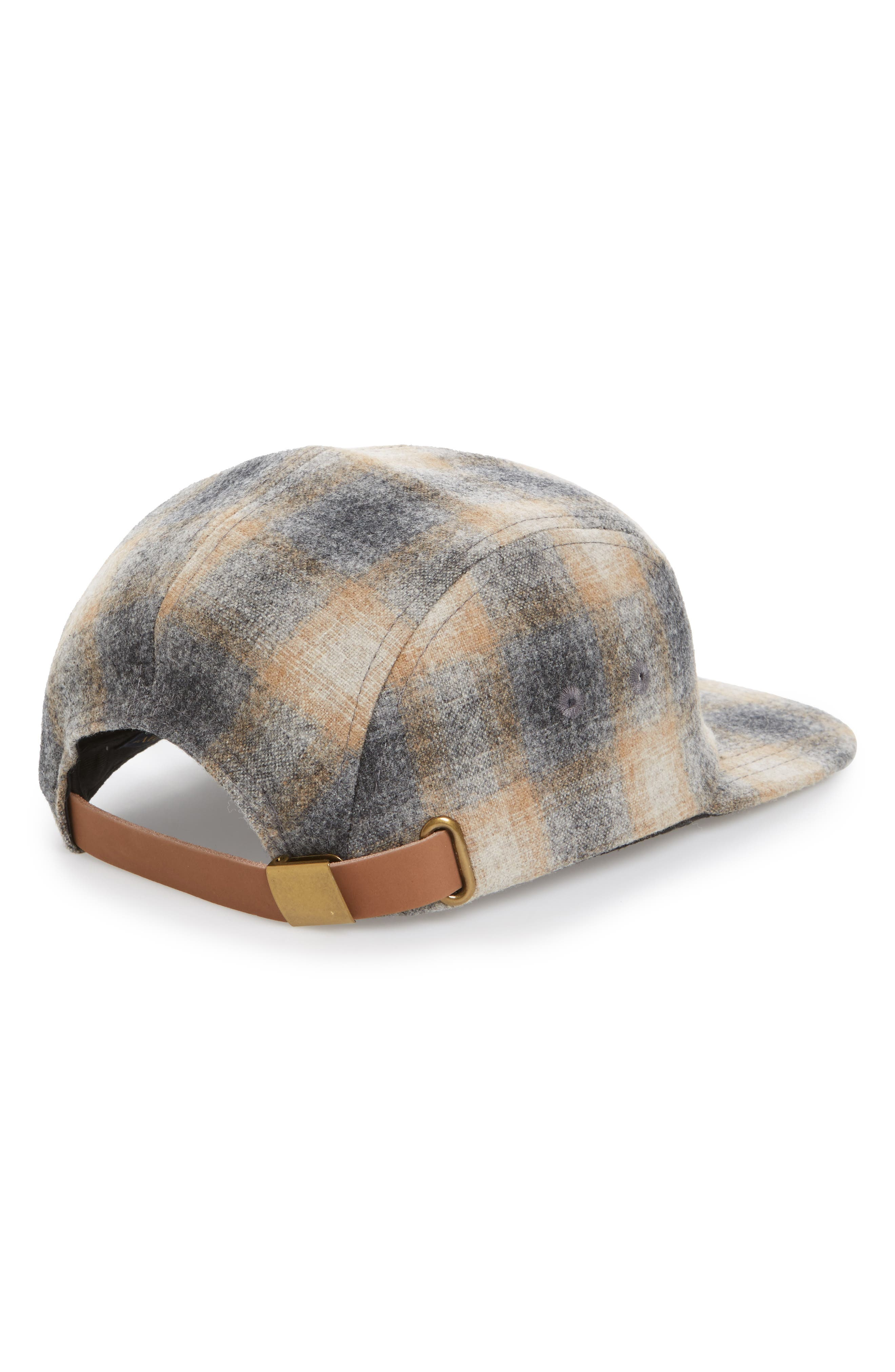Five-Panel Camp Hat,                             Alternate thumbnail 2, color,                             Oxford Grey/ Tan Ombre