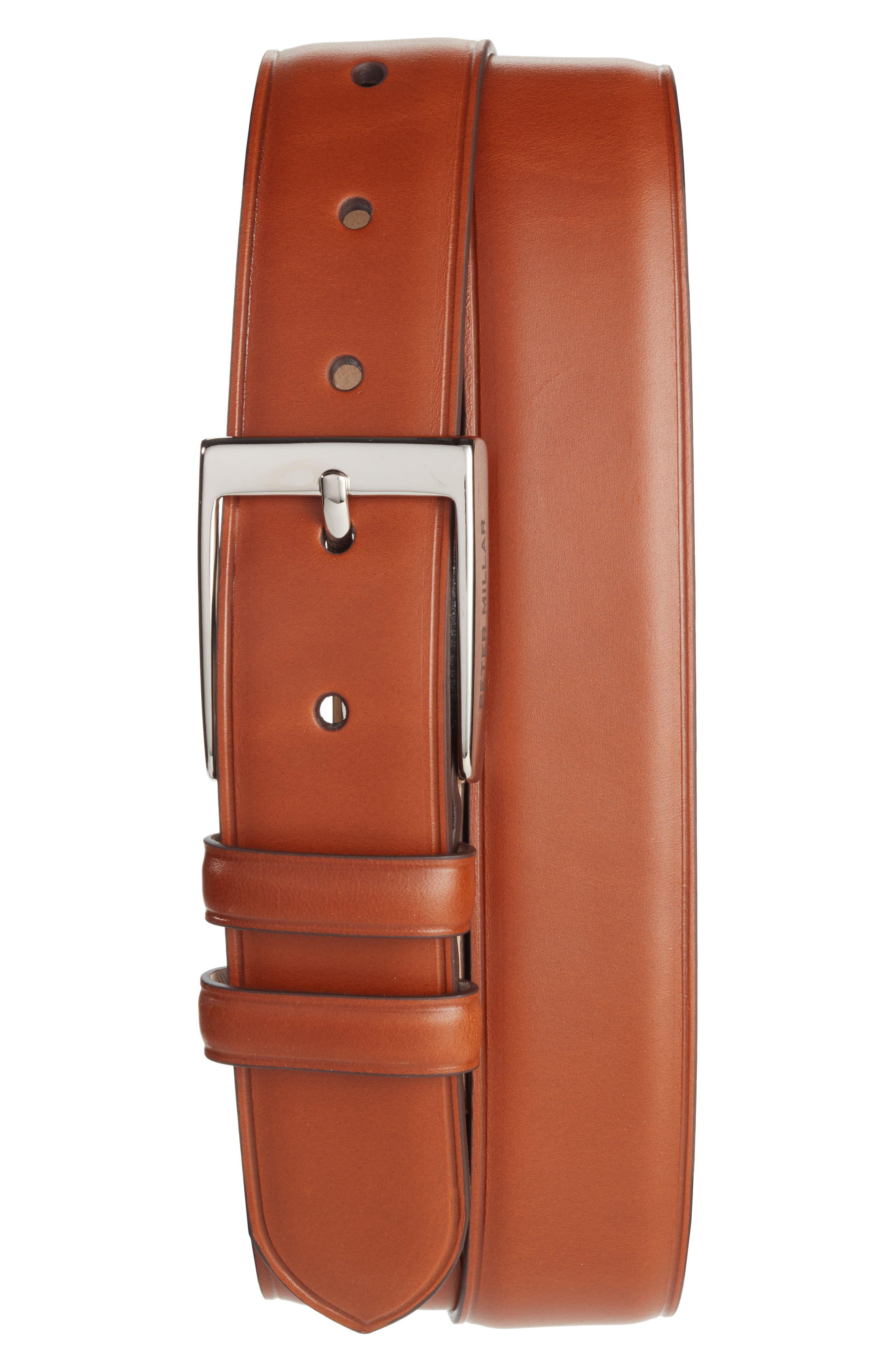 Peter Millar Classic Leather Dress Belt