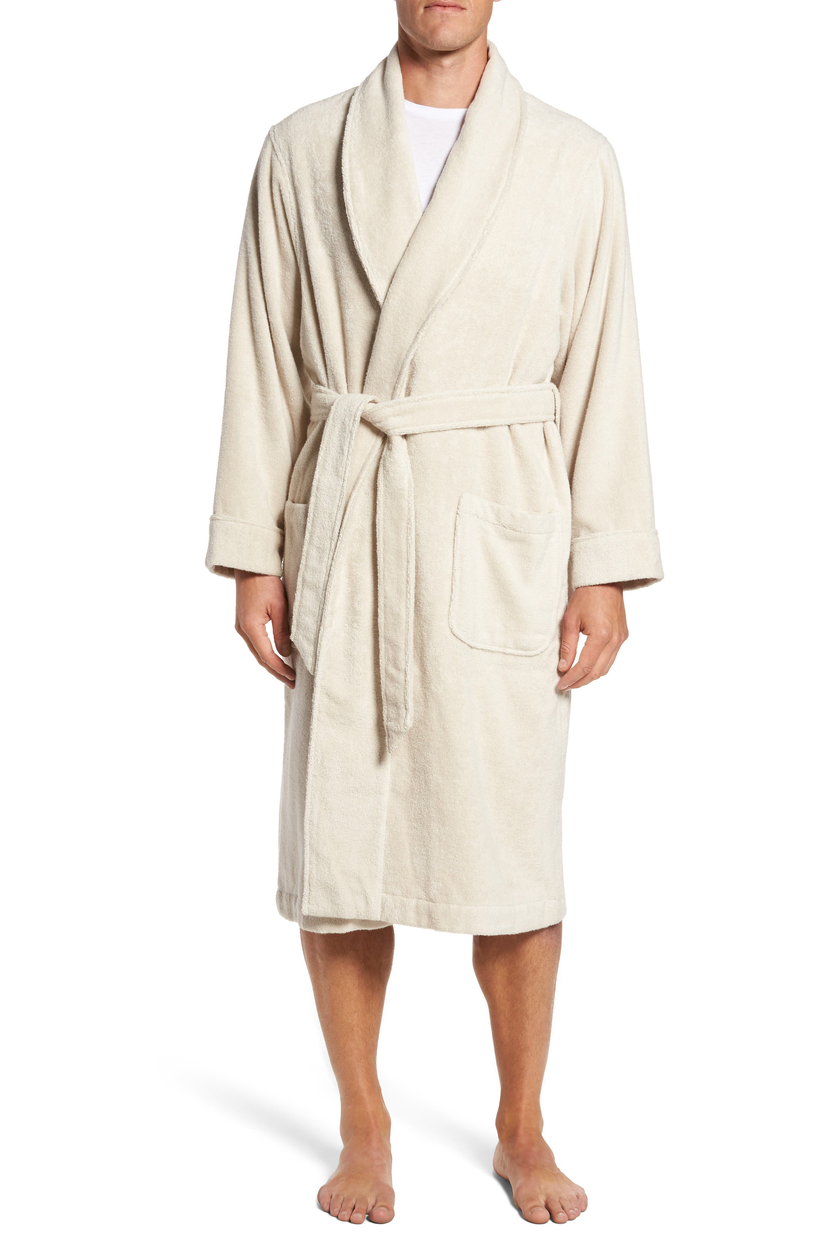 Hydro Cotton Terry Robe,                             Main thumbnail 1, color,                             Beige Oatmeal