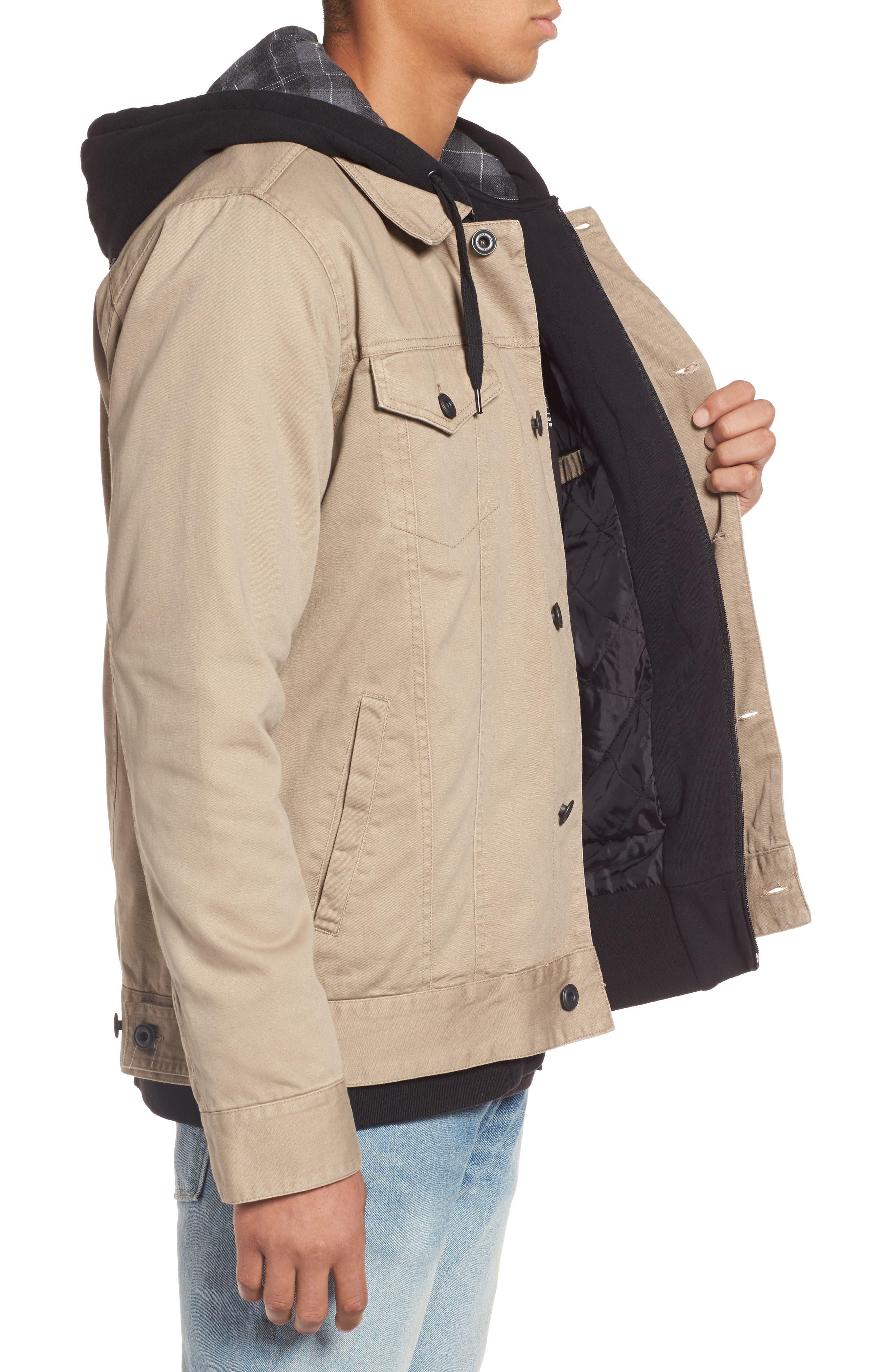 Mac Trucker 3.0 Hooded Jacket,                             Alternate thumbnail 3, color,                             Khaki