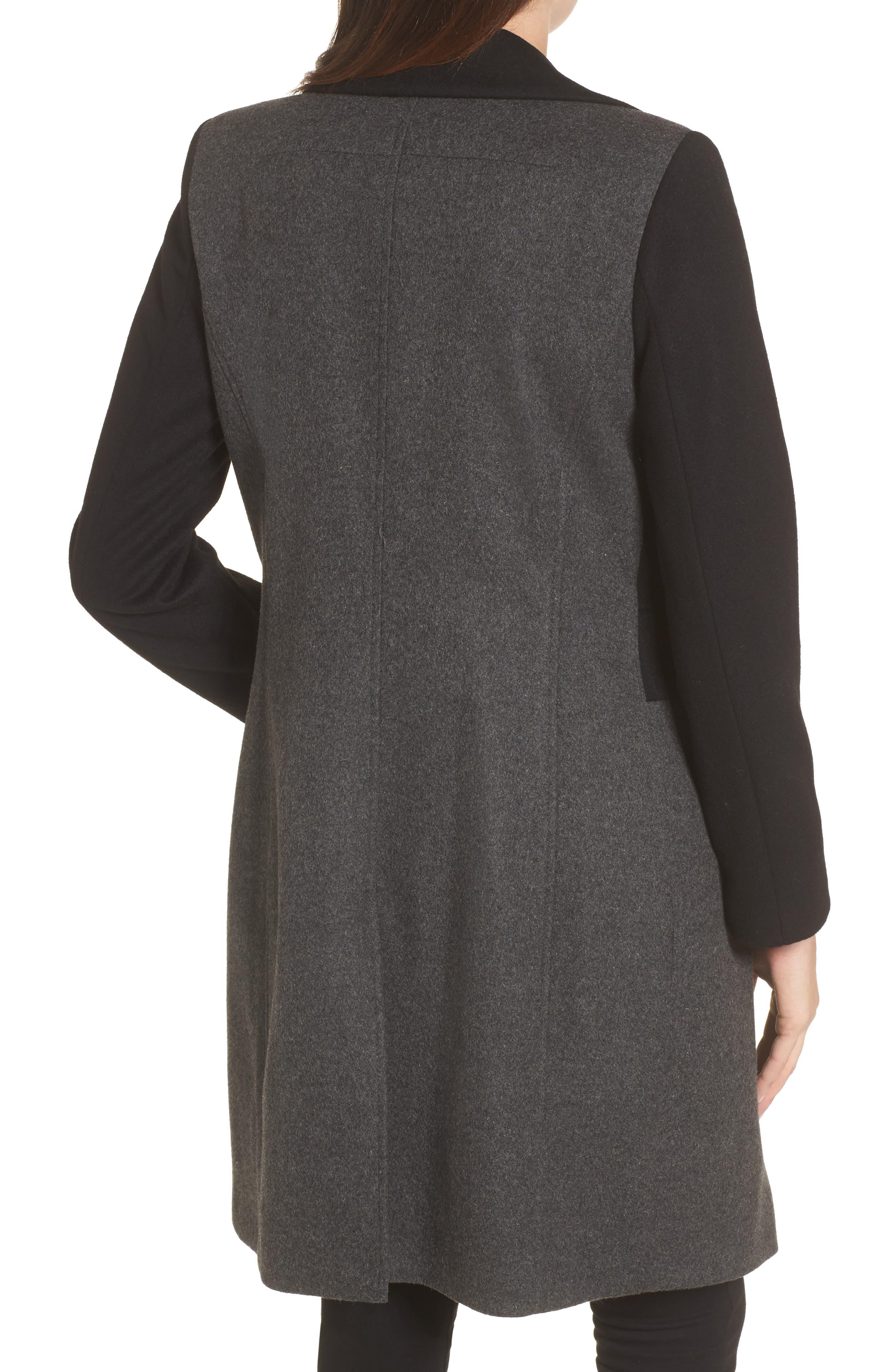Brooklyn Colorblock Coat,                             Alternate thumbnail 2, color,                             Grey/ Black