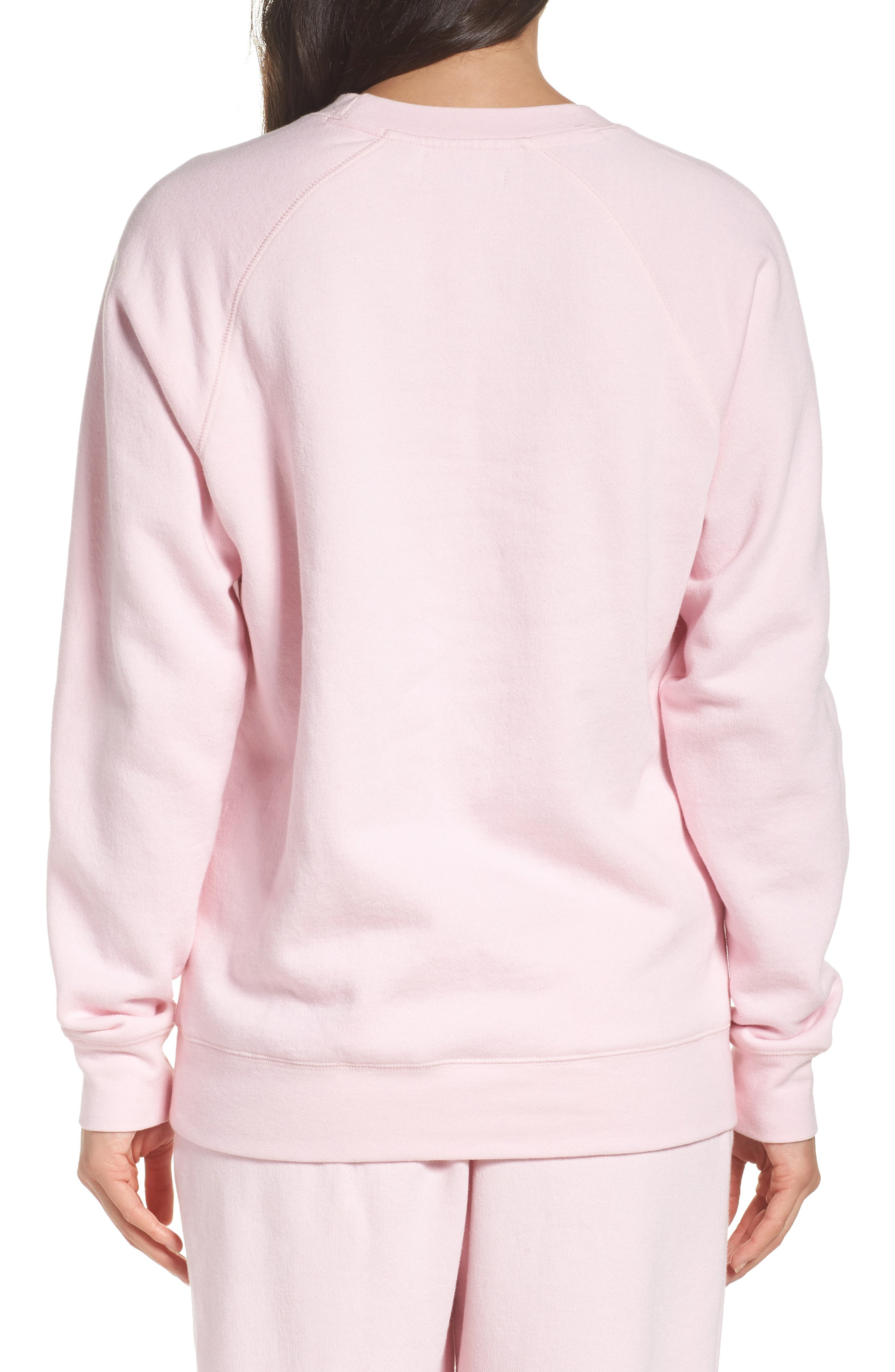 Brunette Crewneck Sweatshirt,                             Alternate thumbnail 2, color,                             Pink