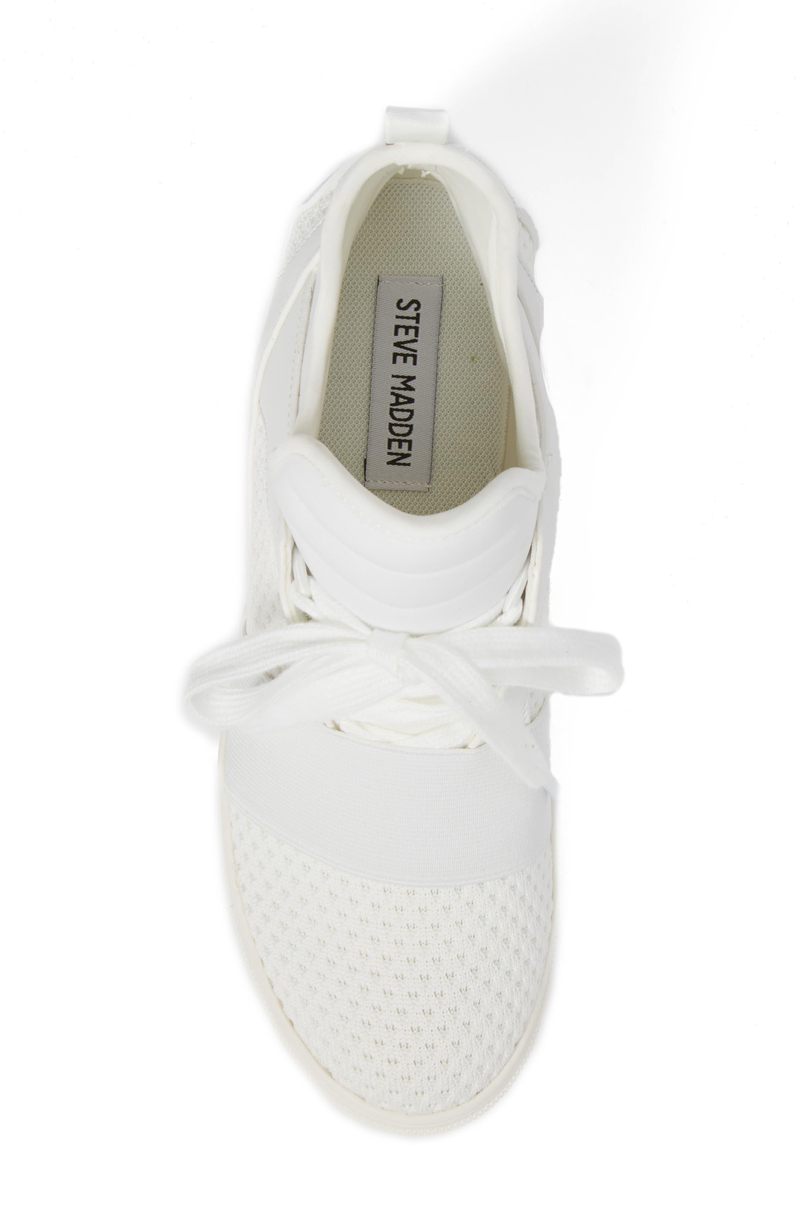Lexie Wedge Sneaker,                             Alternate thumbnail 5, color,                             White