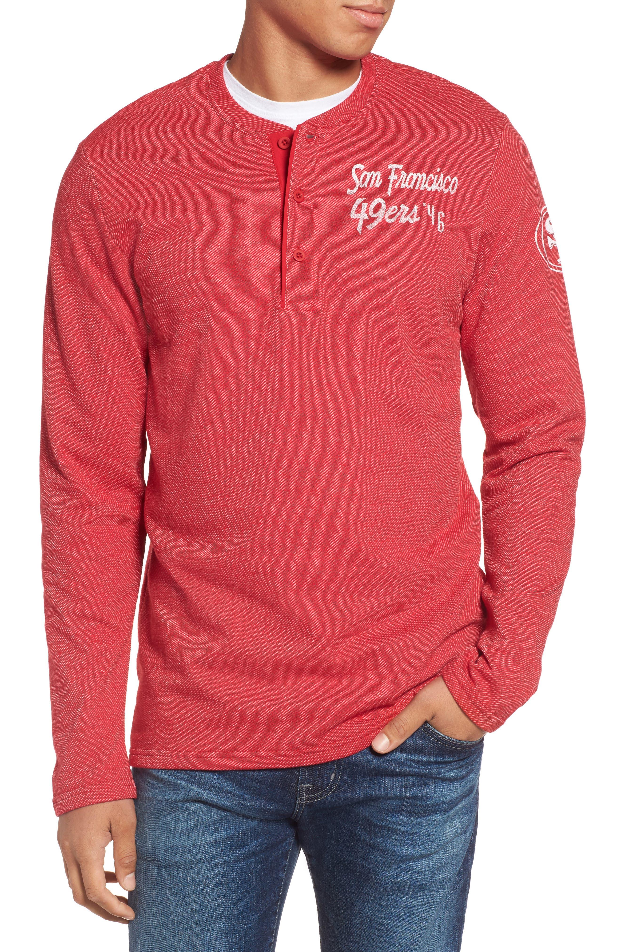 San Francesco 49ers Henley,                         Main,                         color, Red