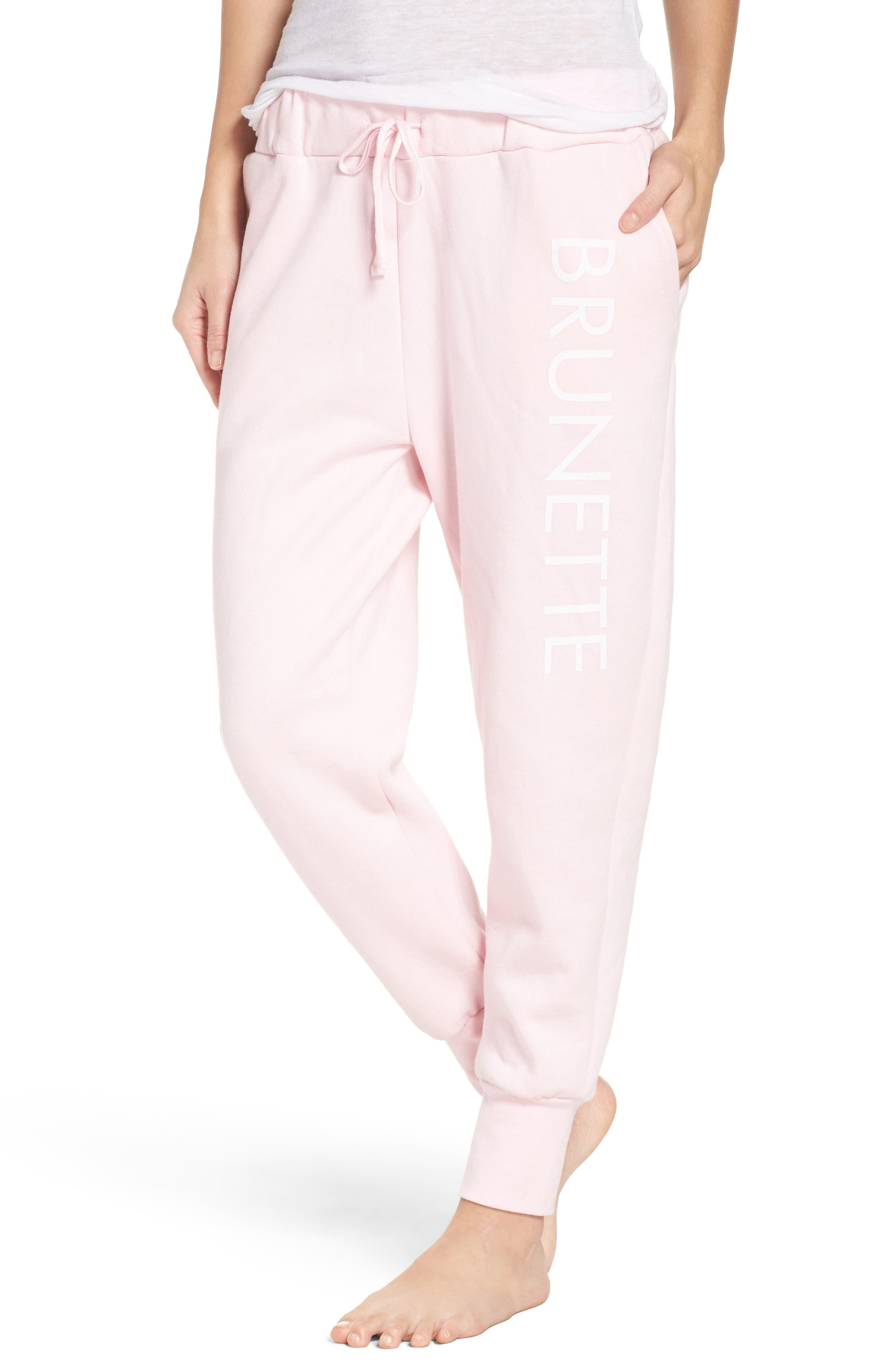 Brunette Jogger Pants,                             Main thumbnail 1, color,                             Pink