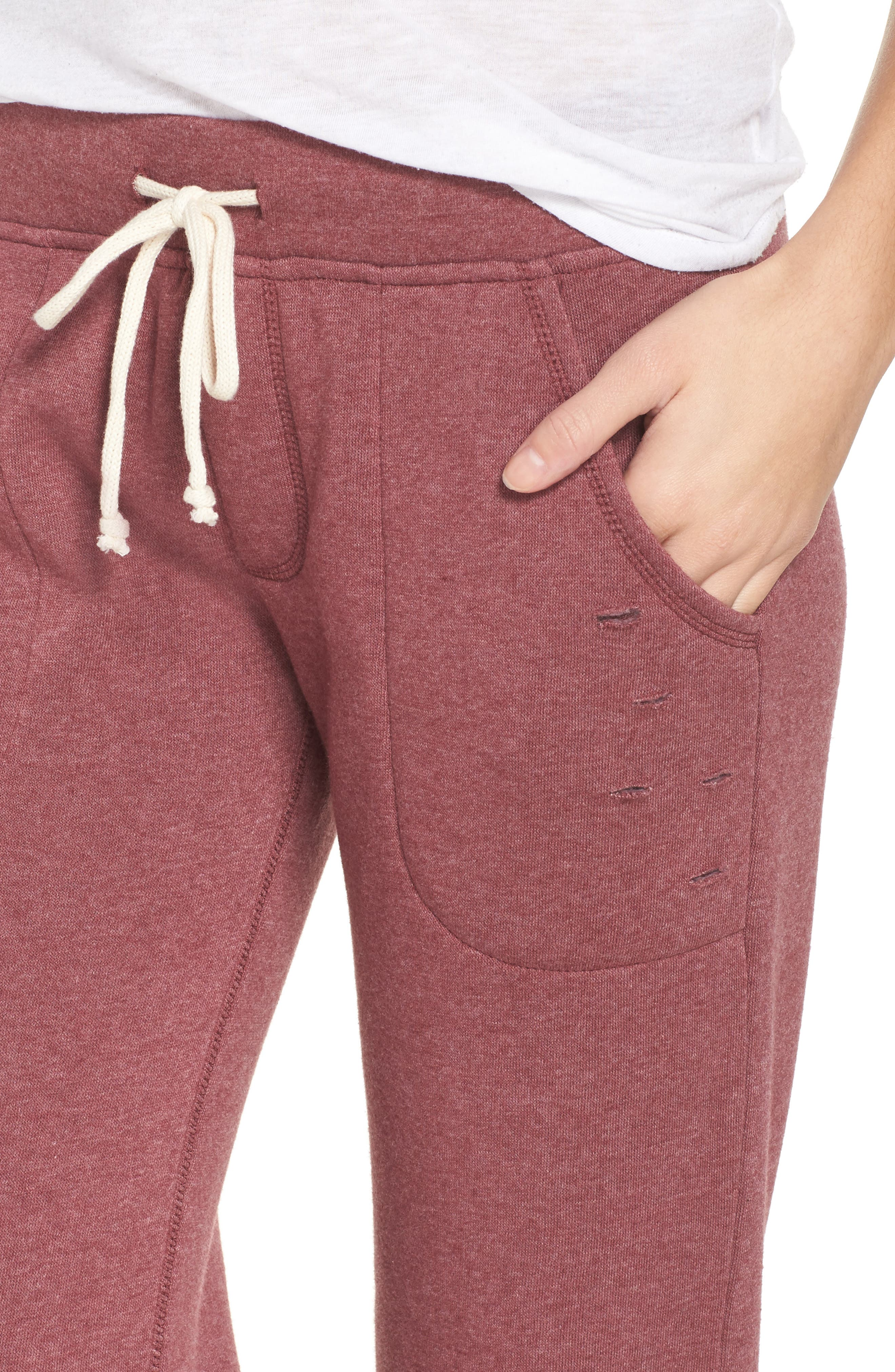Alternate Image 6  - Alternative Distressed Eco Fleece Jogger Pants