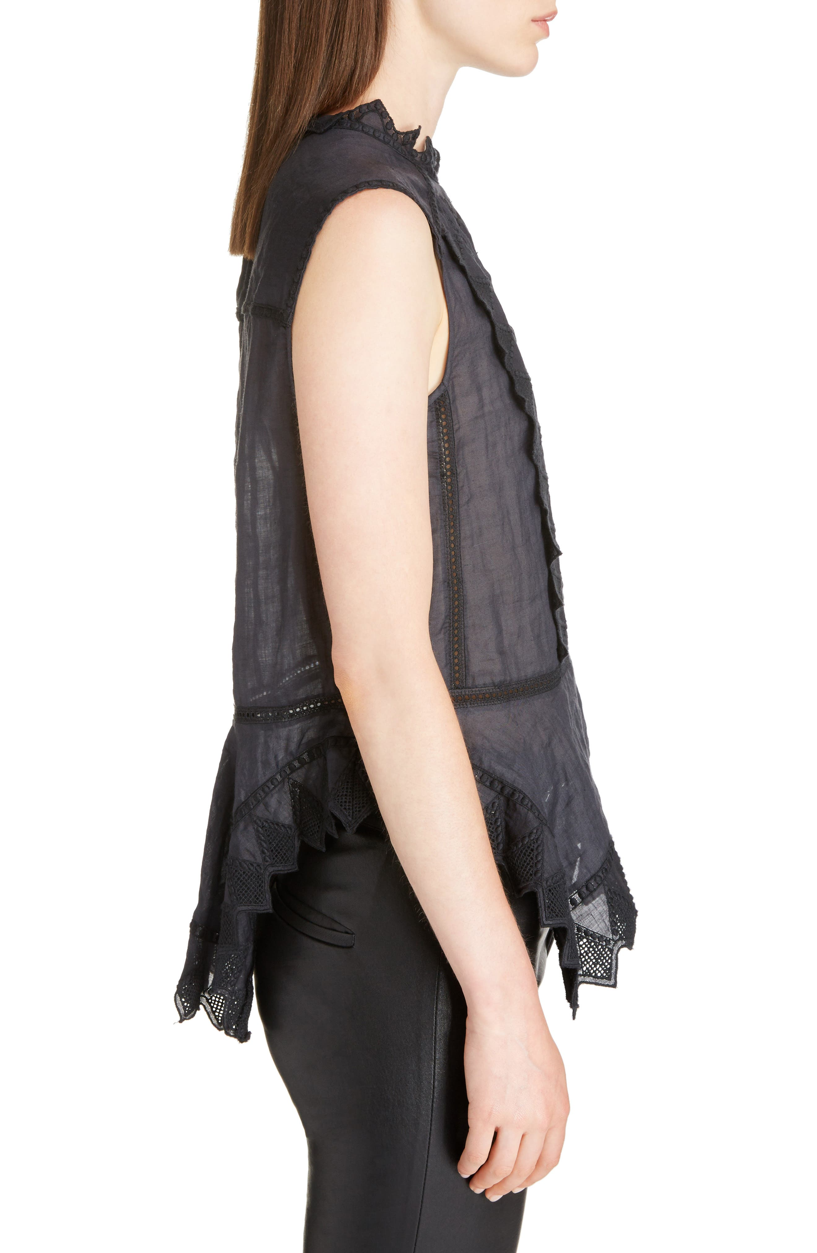 Nust Embroidered Top,                             Alternate thumbnail 3, color,                             Black