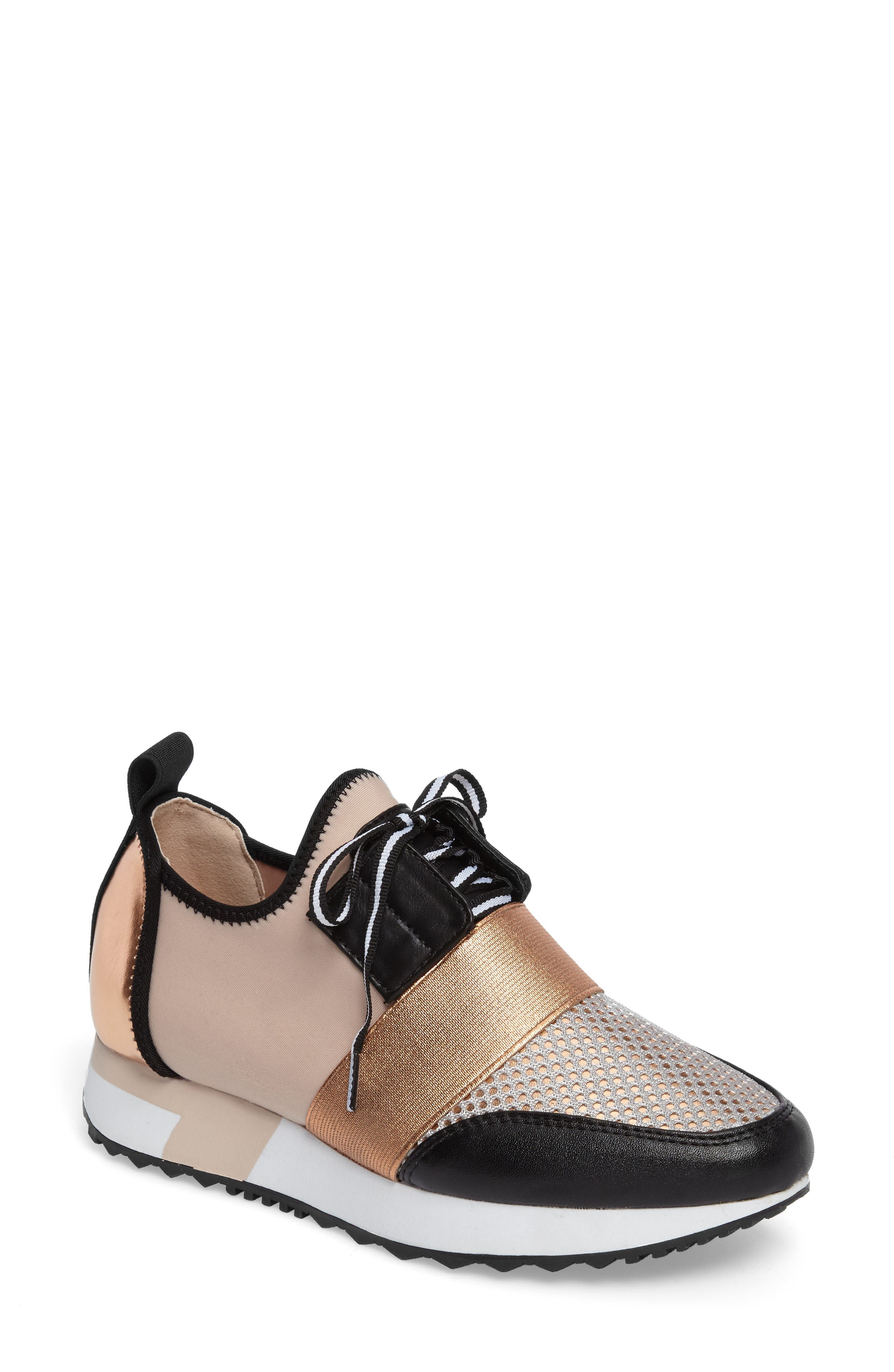 Antics Sneaker,                         Main,                         color, Rose Gold Faux Leather