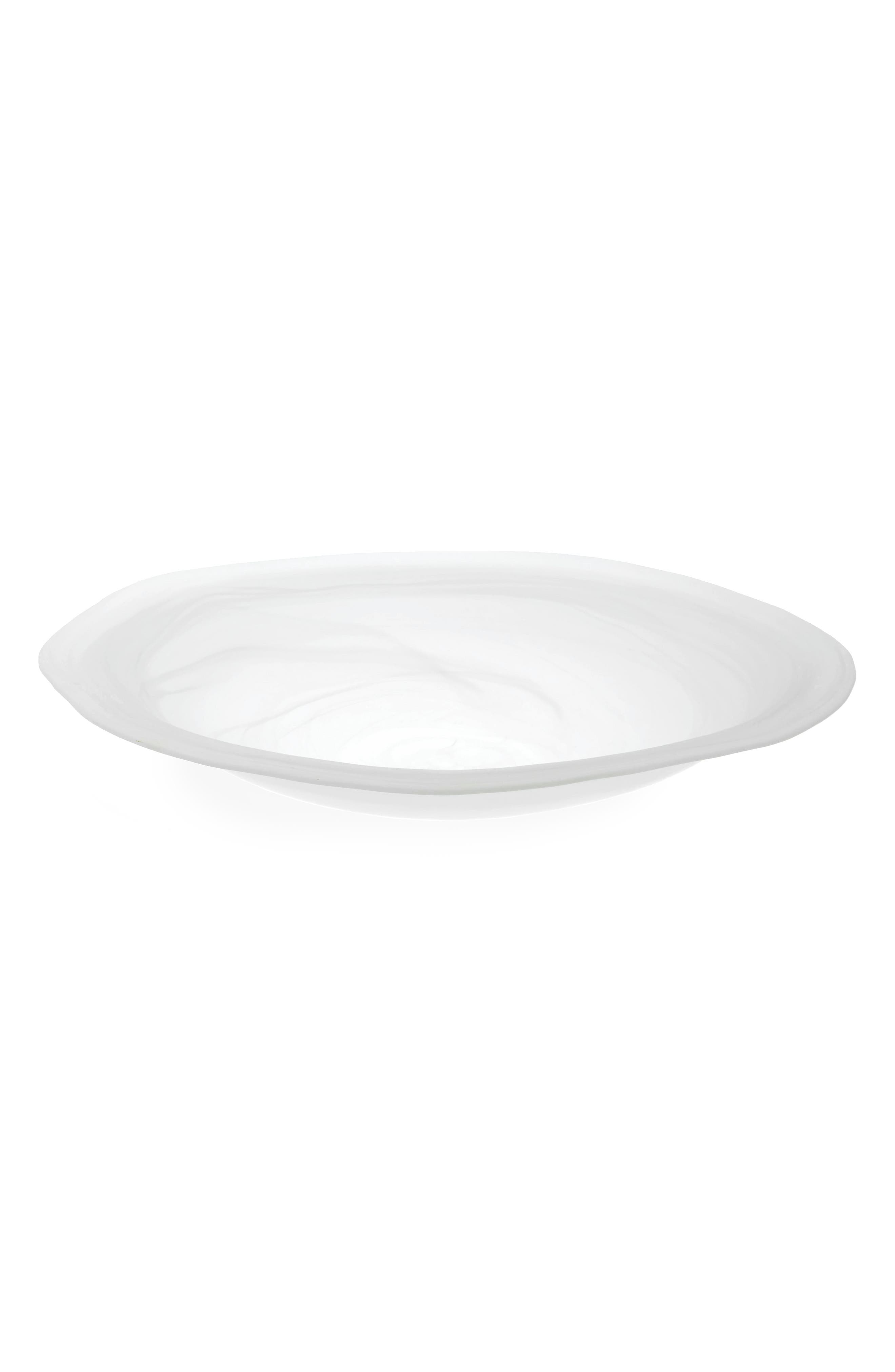 Frosted Alabaster Glass Platter,                         Main,                         color, White