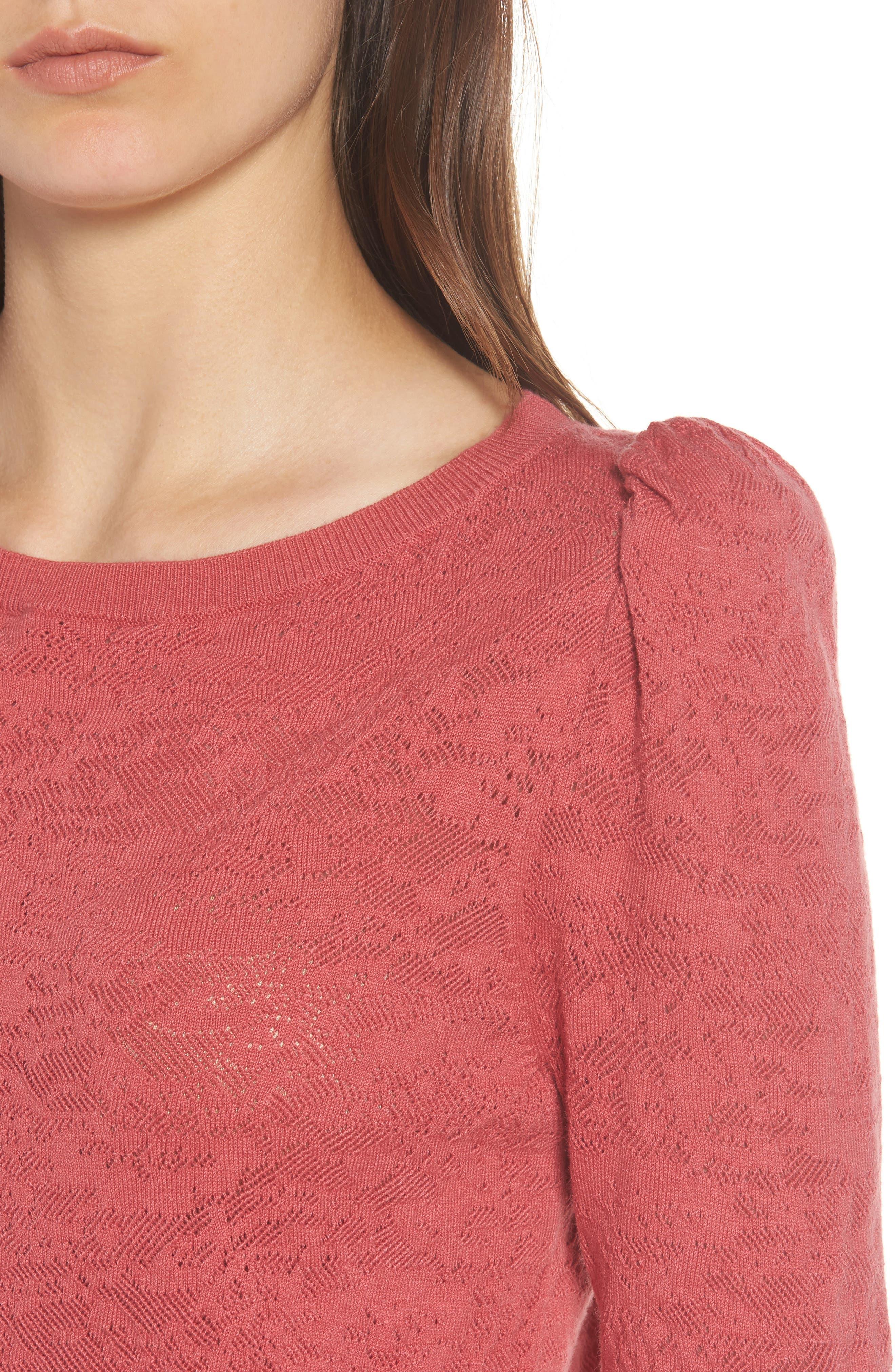 Alternate Image 4  - Hinge Puff Sleeve Pullover
