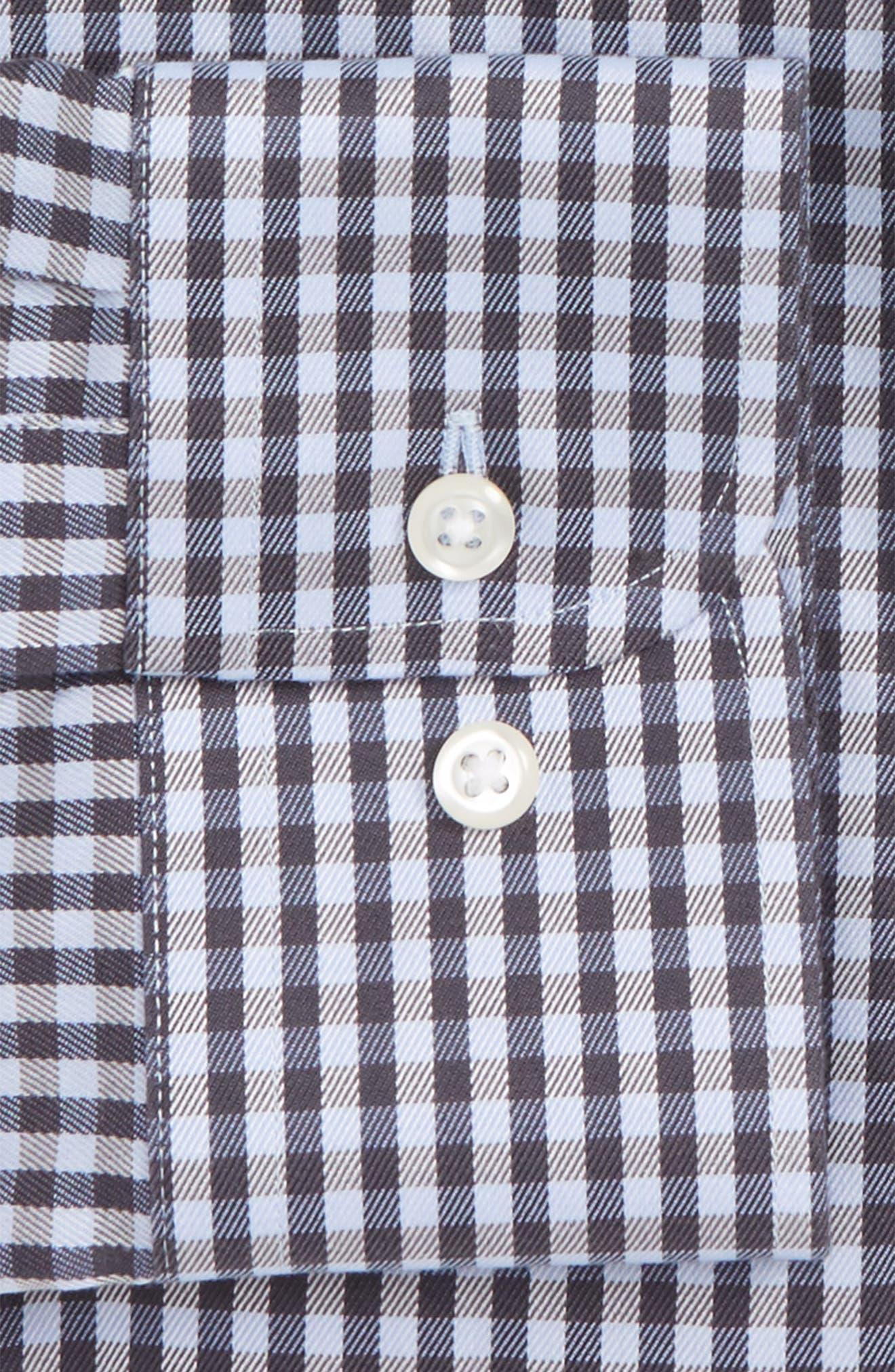 Smartcare<sup>™</sup> Trim Fit Check Dress Shirt,                             Alternate thumbnail 2, color,                             Grey Stonehenge