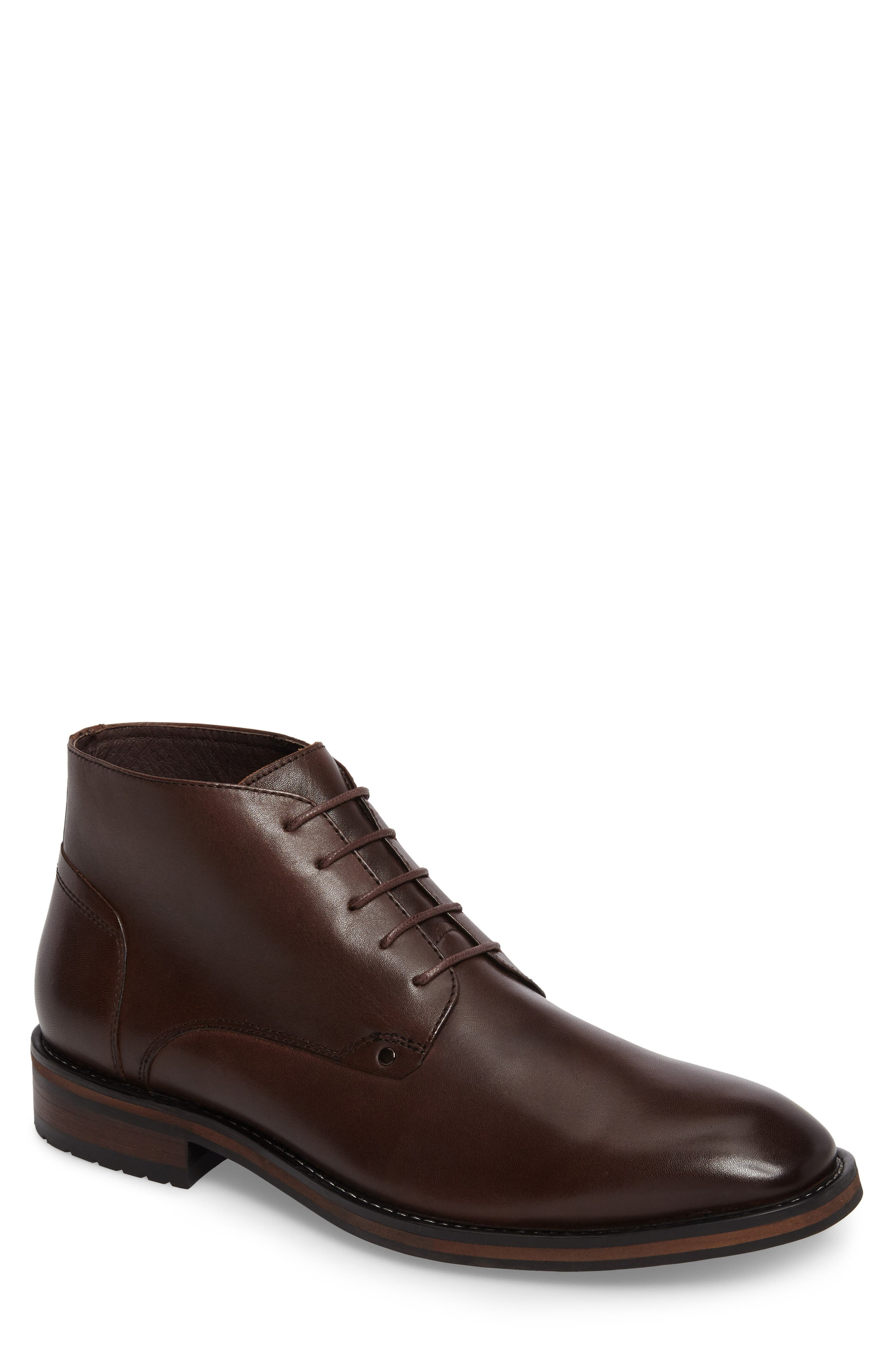 Malta Low Boot,                         Main,                         color, Brown Leather