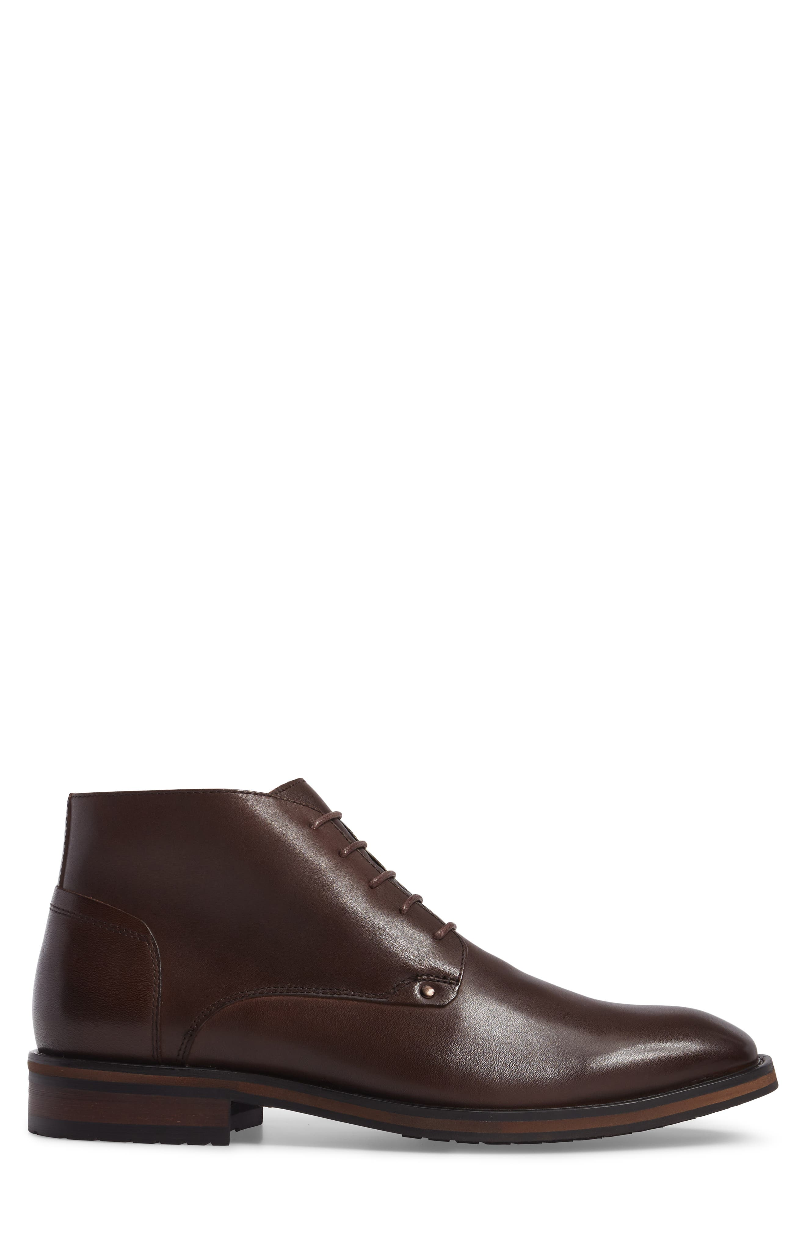 Malta Low Boot,                             Alternate thumbnail 3, color,                             Brown Leather