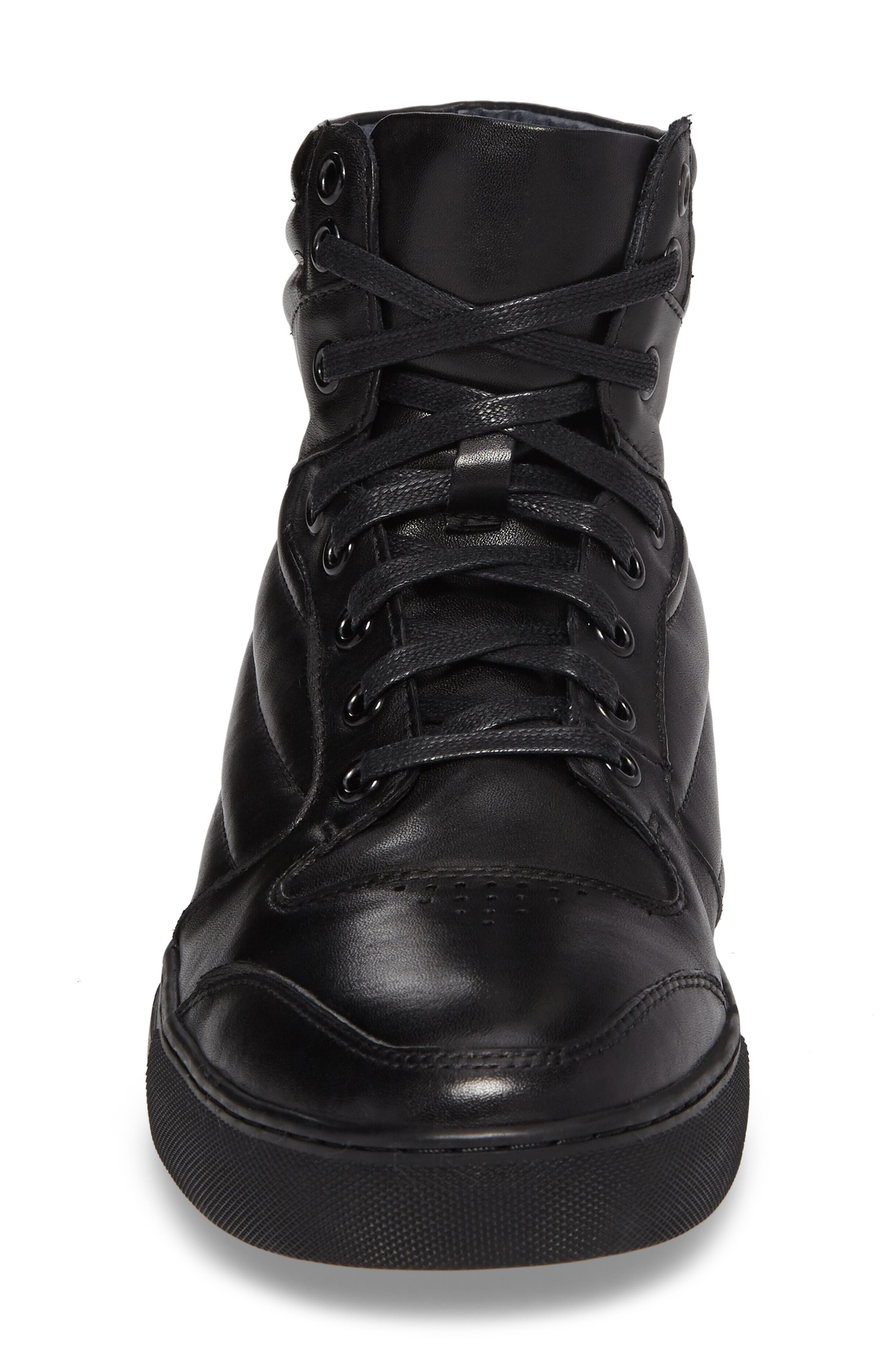 Vacdes High Top Sneaker,                             Alternate thumbnail 4, color,                             Black Leather