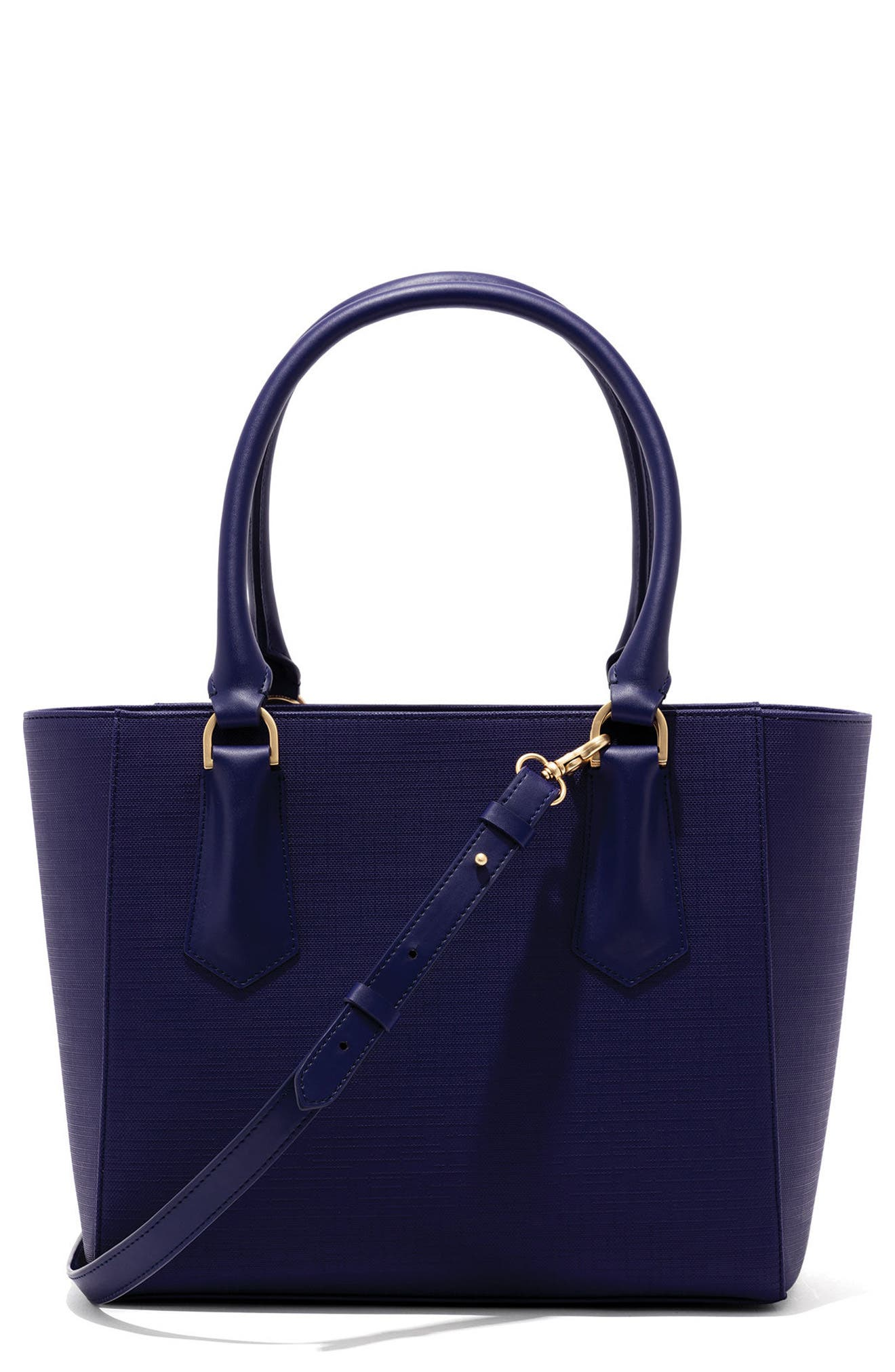 Signature Midi Coated Canvas Tote,                             Main thumbnail 1, color,                             Dagne Blue