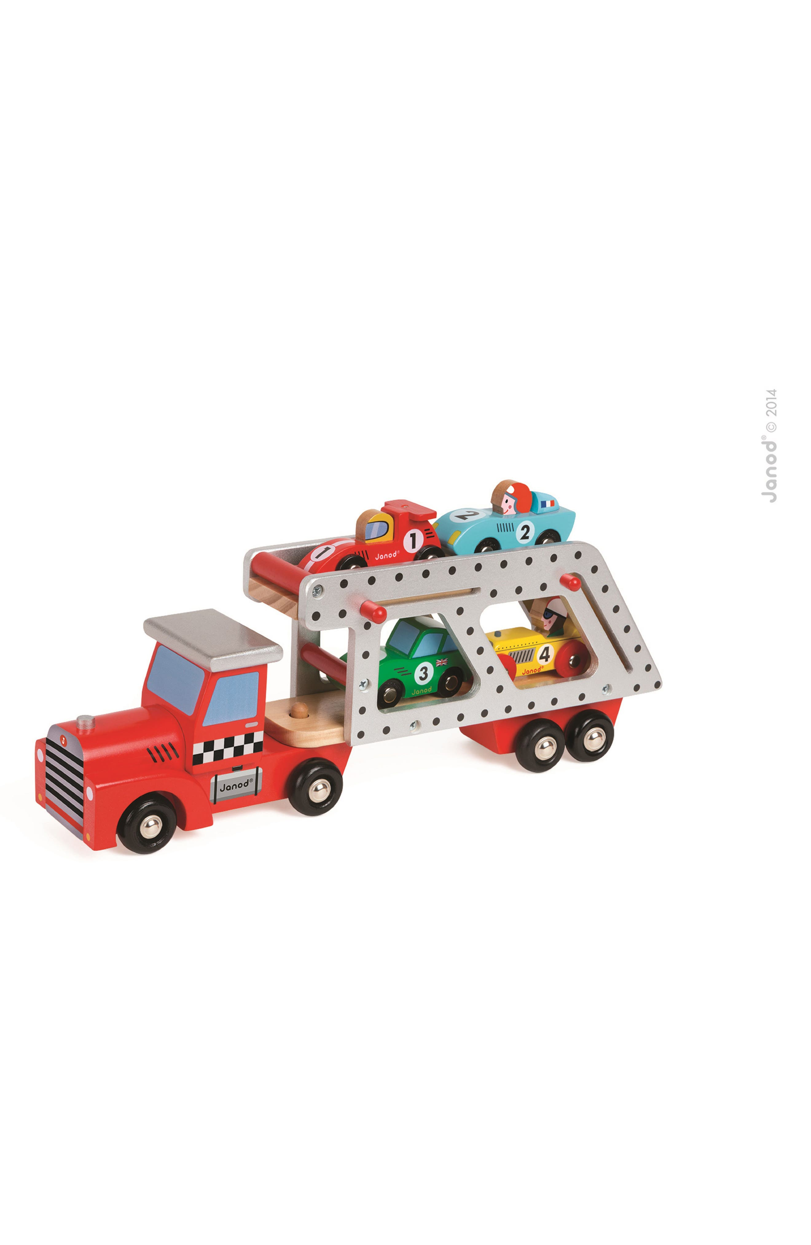 Car Transporter Wood Toy,                             Main thumbnail 1, color,                             Multi