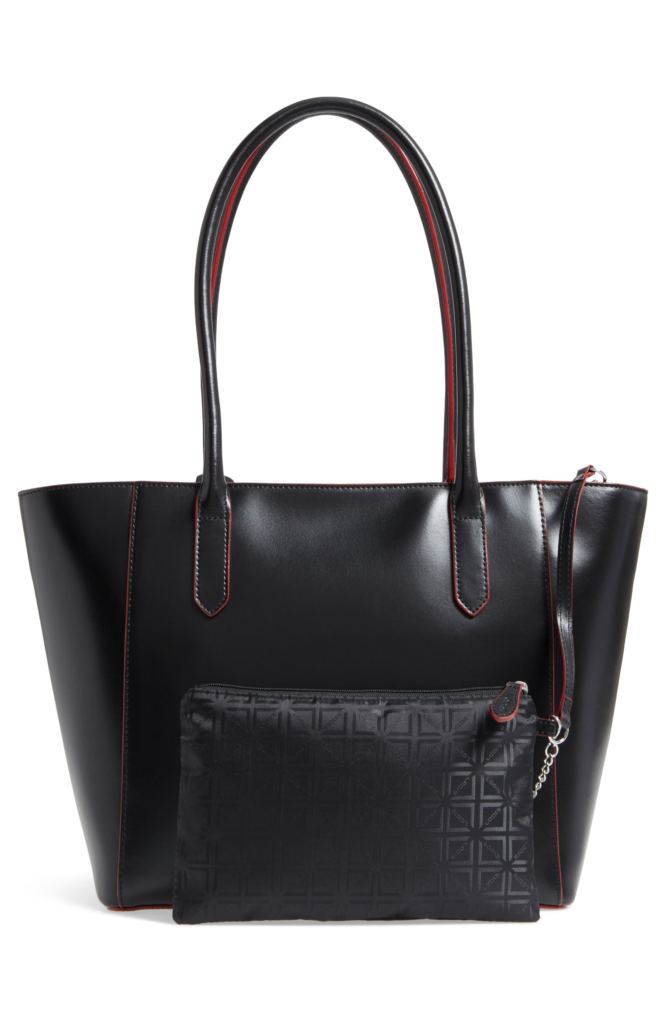 Alternate Image 2  - LODIS Los Angeles Audrey Under Lock & Key - Medium Margaret RFID Leather Tote with Zip Pouch