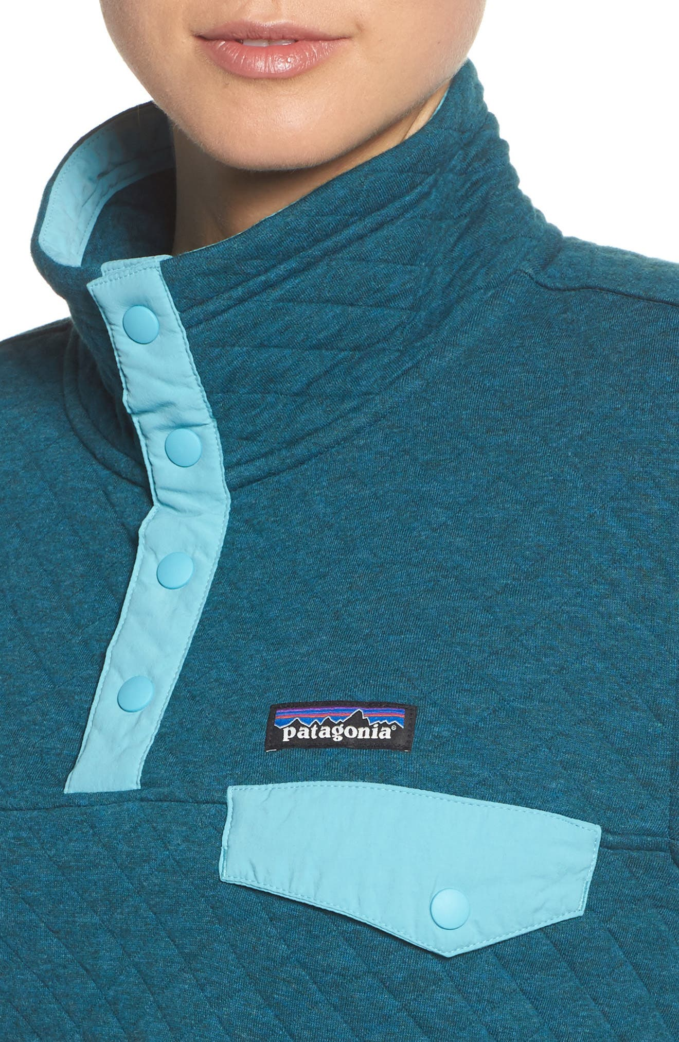 Snap-T<sup>®</sup> Quilted Pullover,                             Alternate thumbnail 4, color,                             Elwha Blue