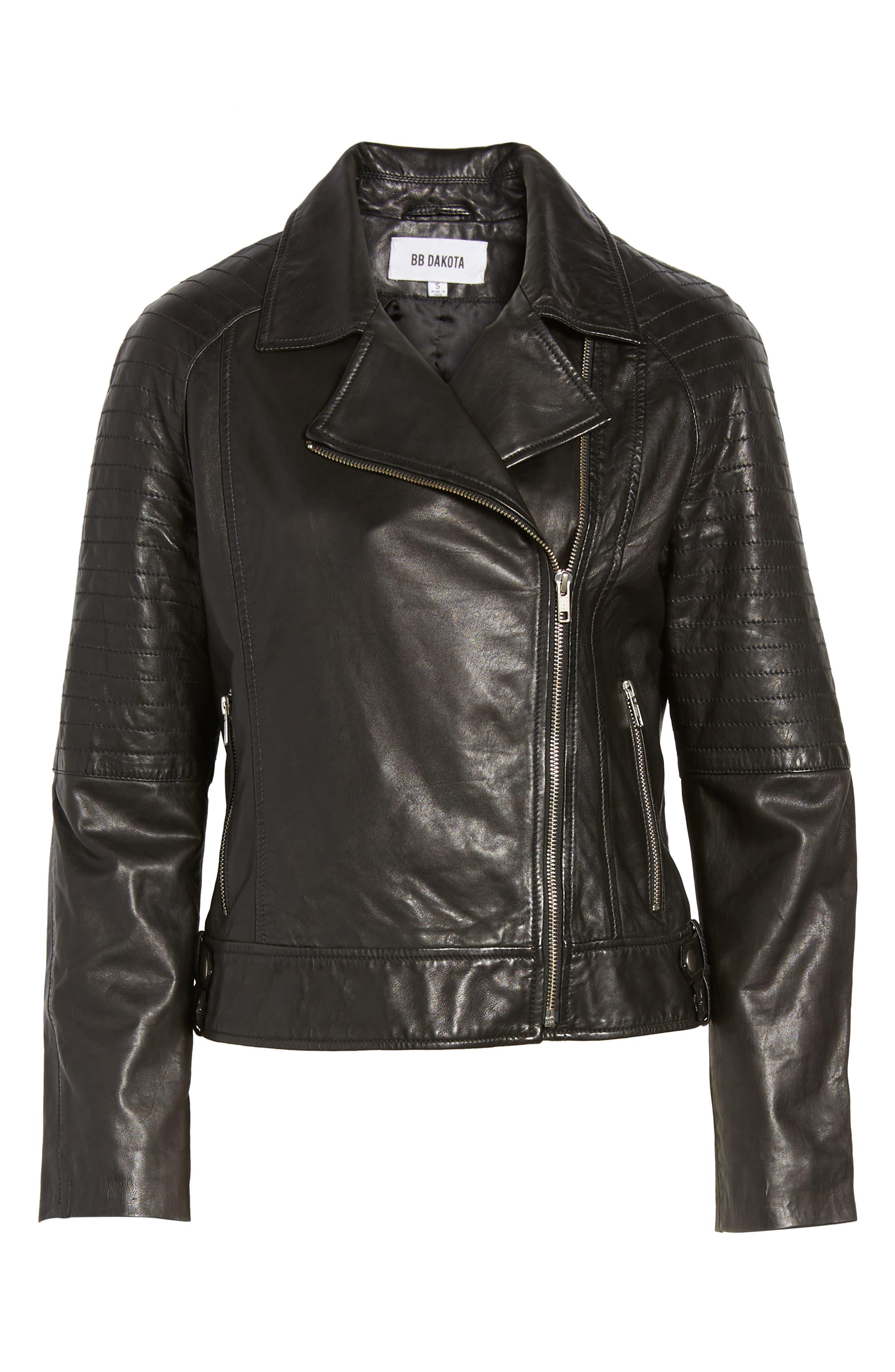 Alternate Image 6  - BB Dakota Harwick Leather Moto Jacket