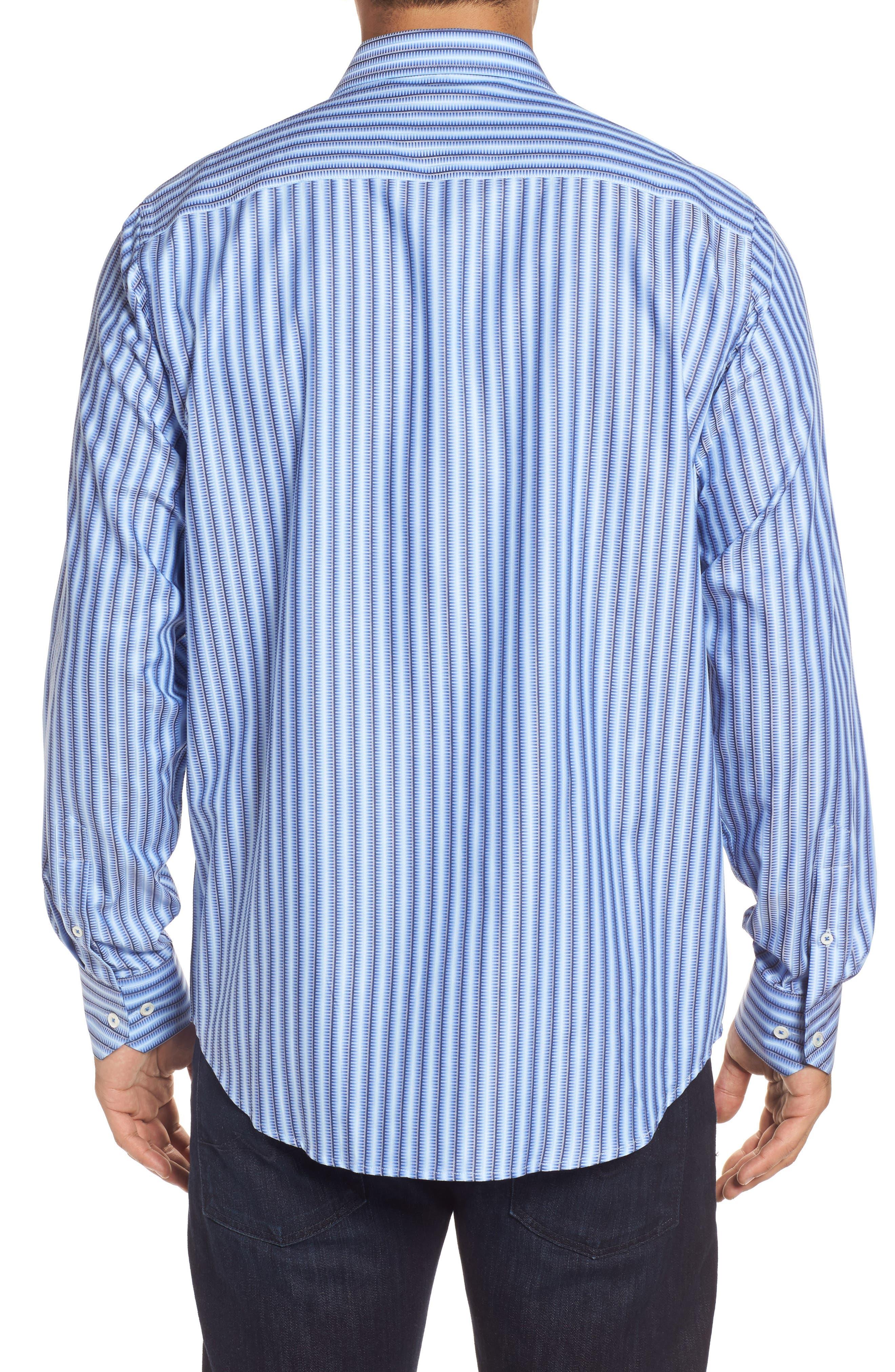 Alternate Image 2  - Bugatchi Classic Fit Striped Sport Shirt