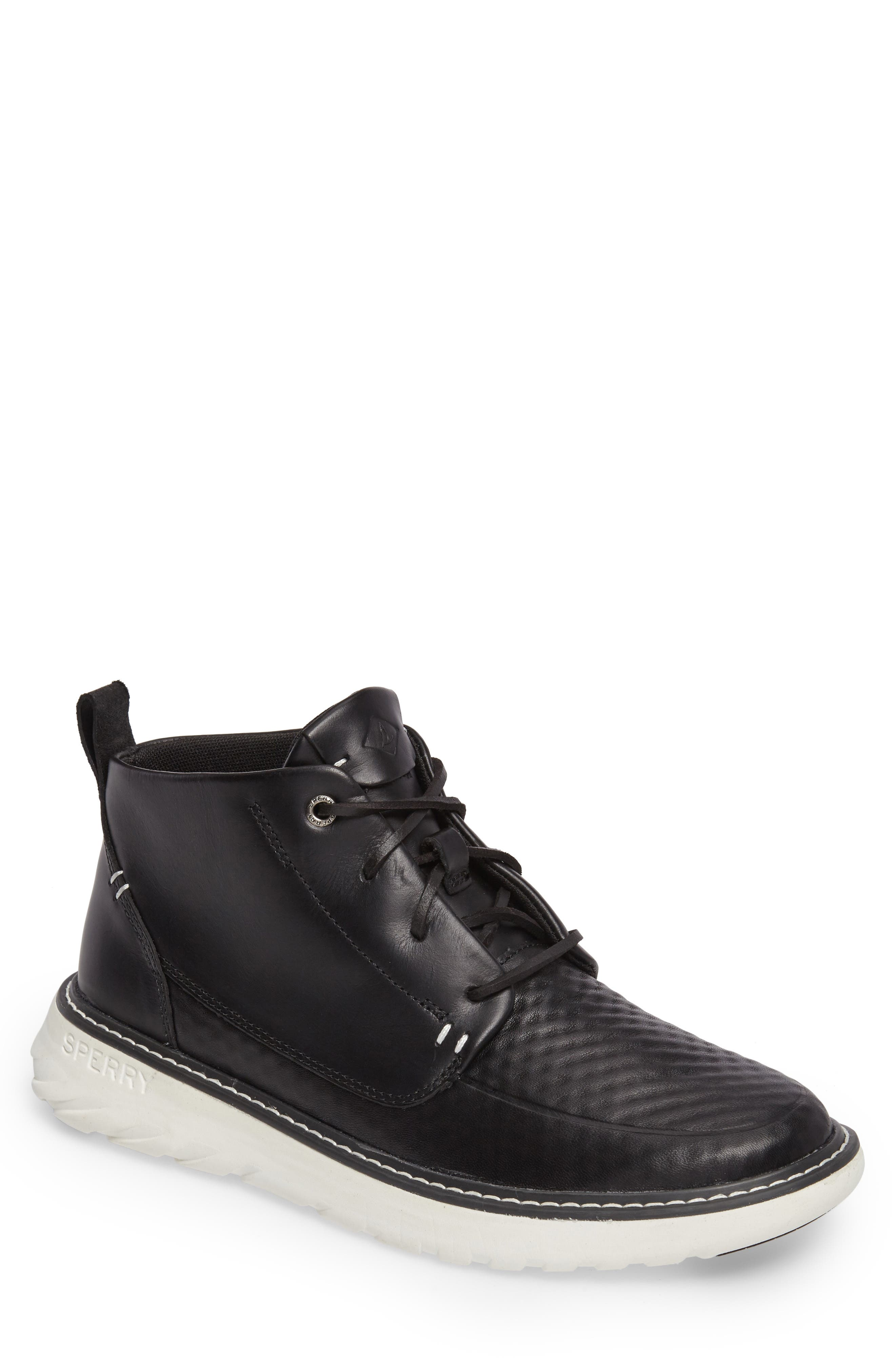 Element Chukka Boot,                         Main,                         color, Black Leather