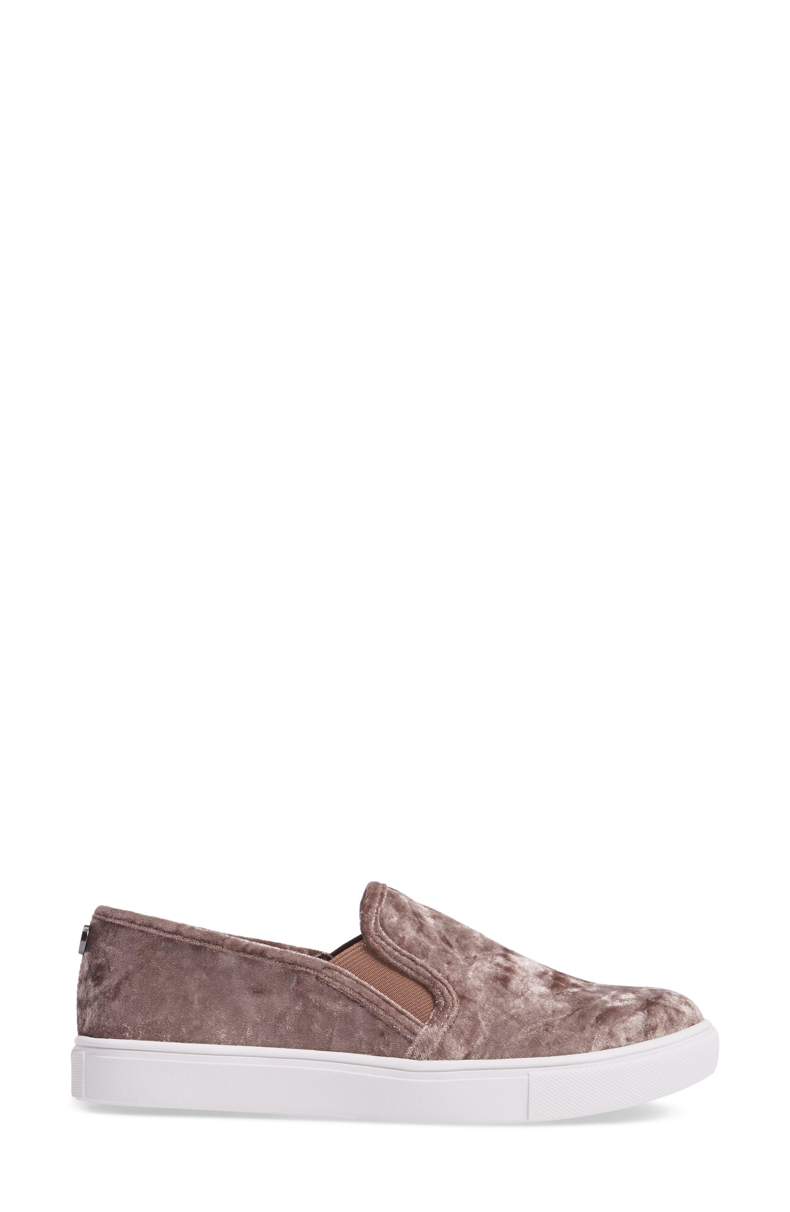 Ecntrcv Slip-On Sneaker,                             Alternate thumbnail 3, color,                             Mushroom Fabric
