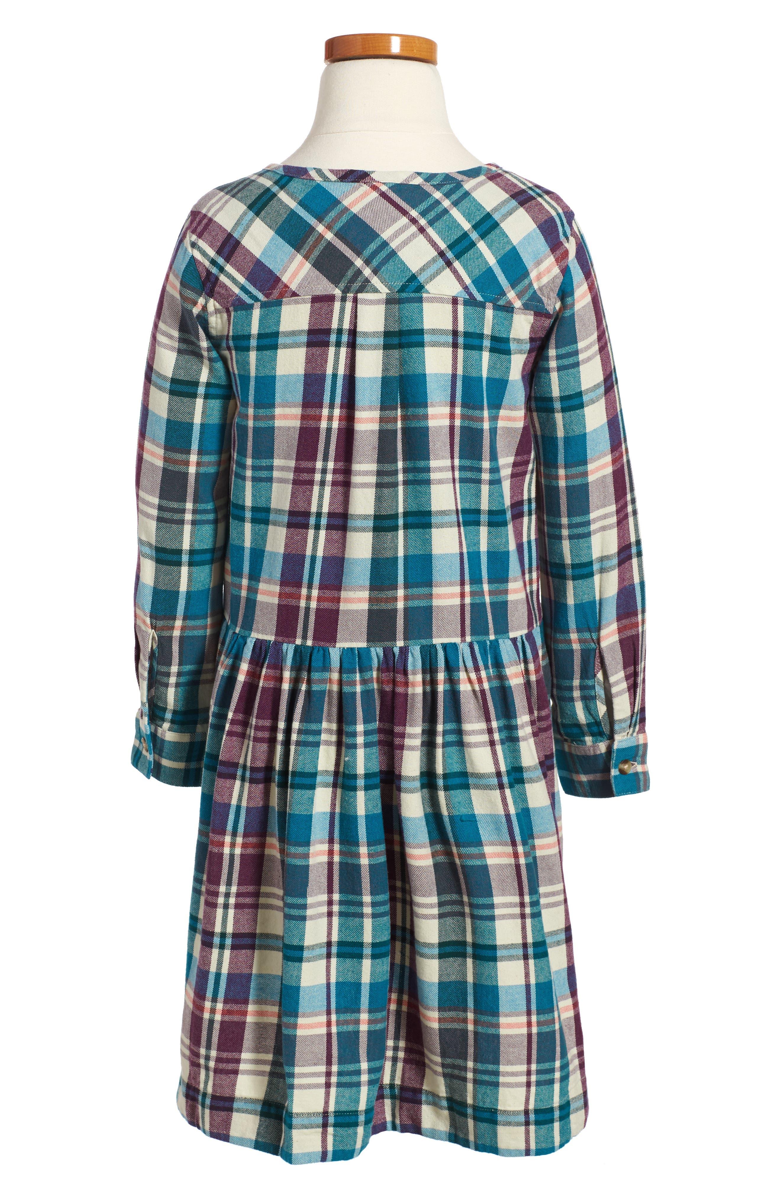 Alternate Image 2  - Tea Collection Applecross Plaid Flannel Shirtdress (Toddler Girls, Little Girls & Big Girls)