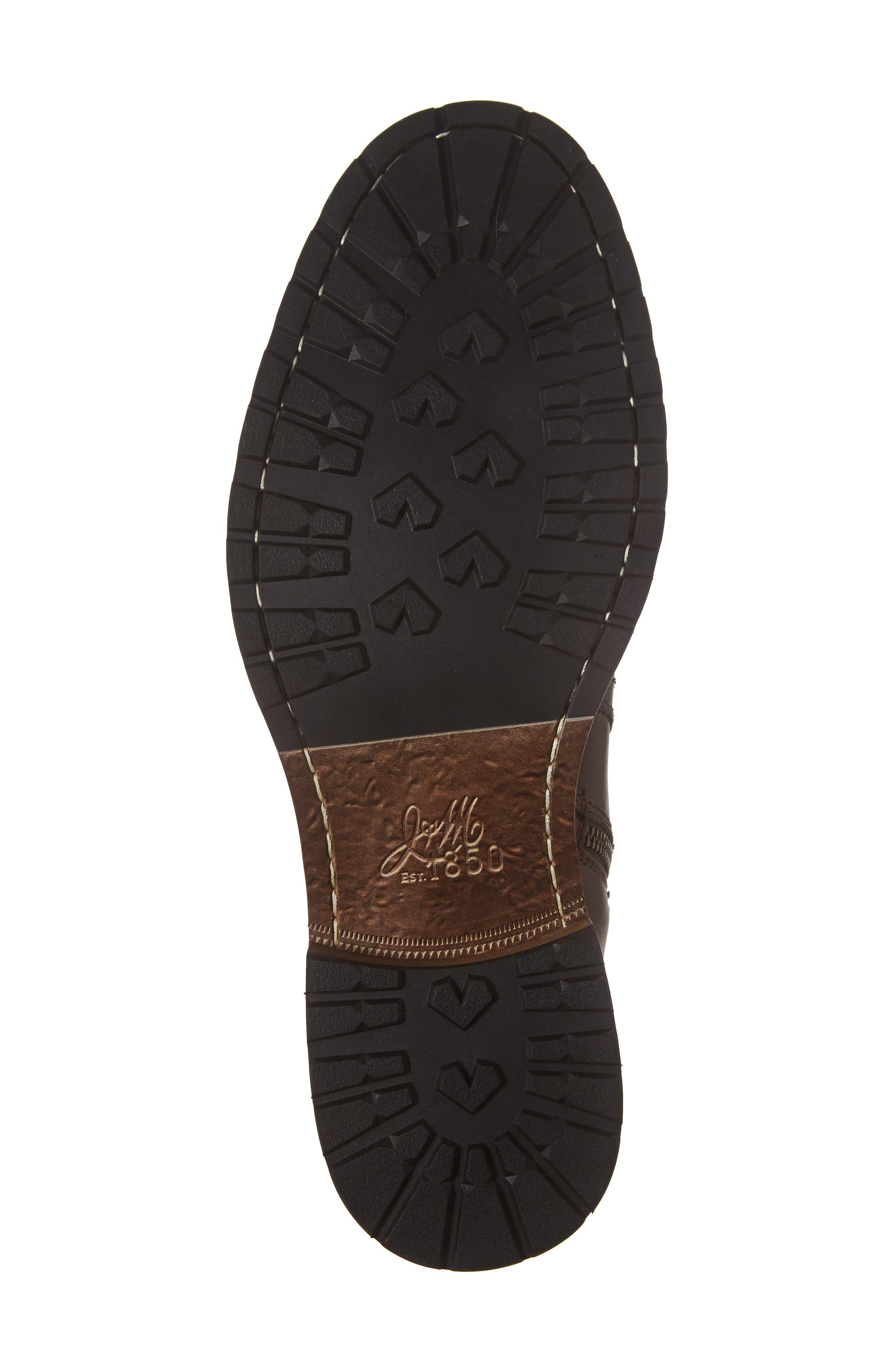 Myles Zip Boot,                             Alternate thumbnail 6, color,                             Dark Brown Leather