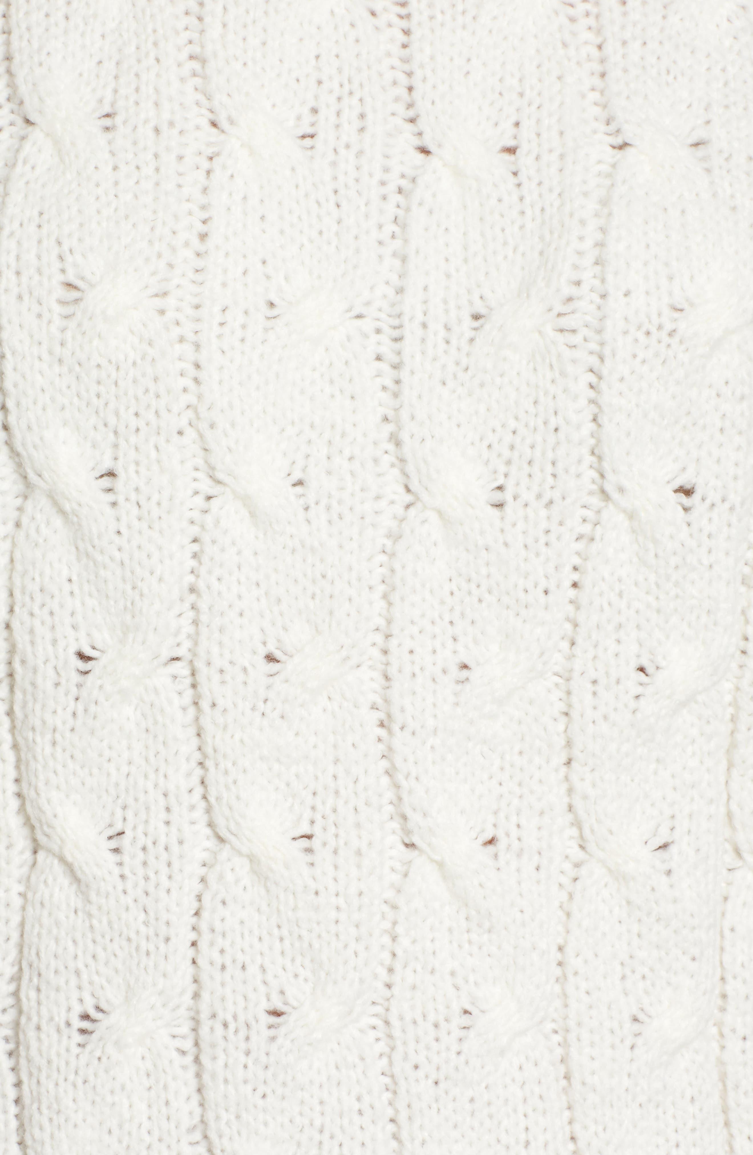 Alternate Image 5  - Press Pointelle Turtleneck Sweater