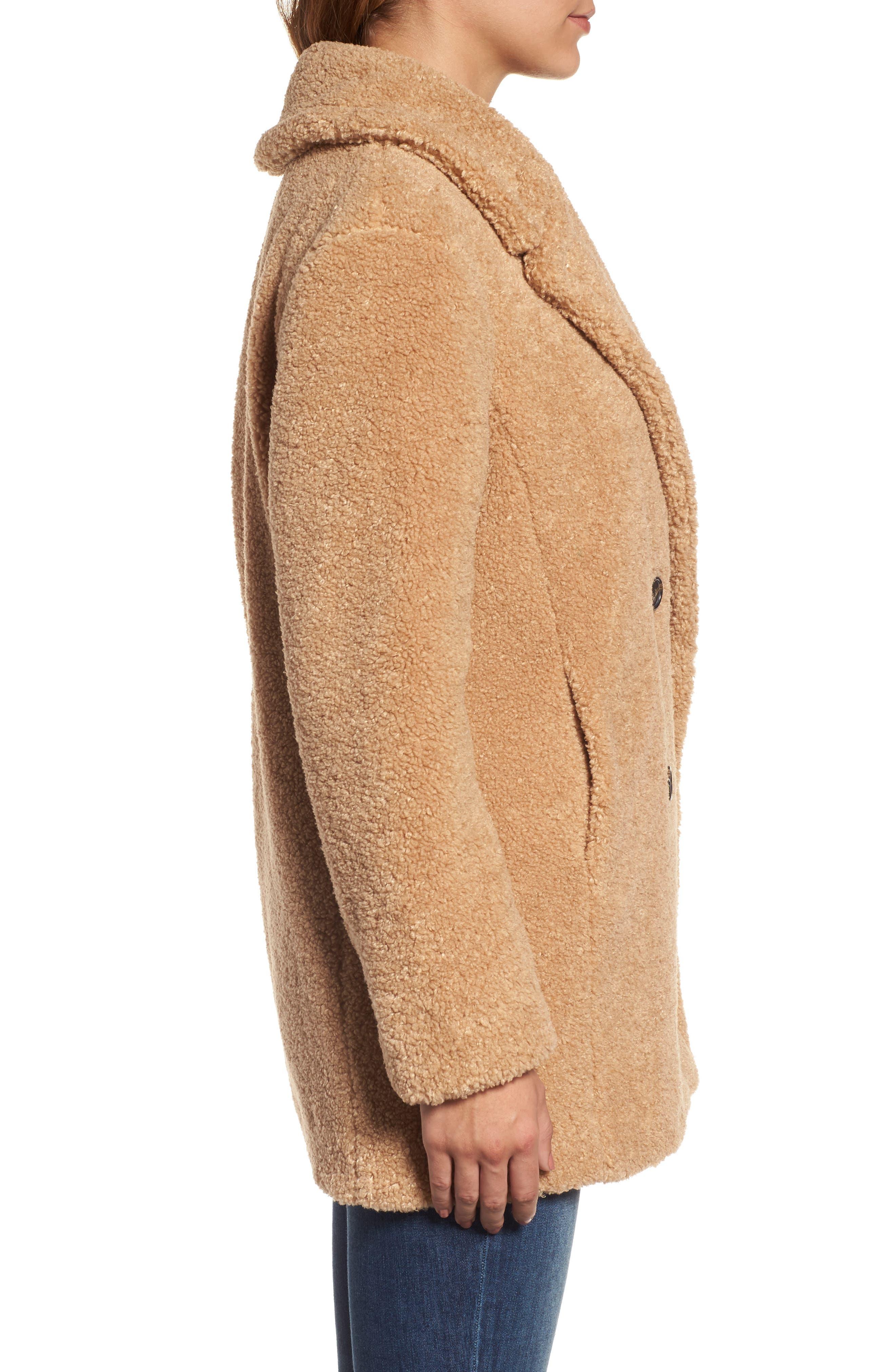Alternate Image 4  - kensie Teddy Bear Notch Collar Faux Fur Coat