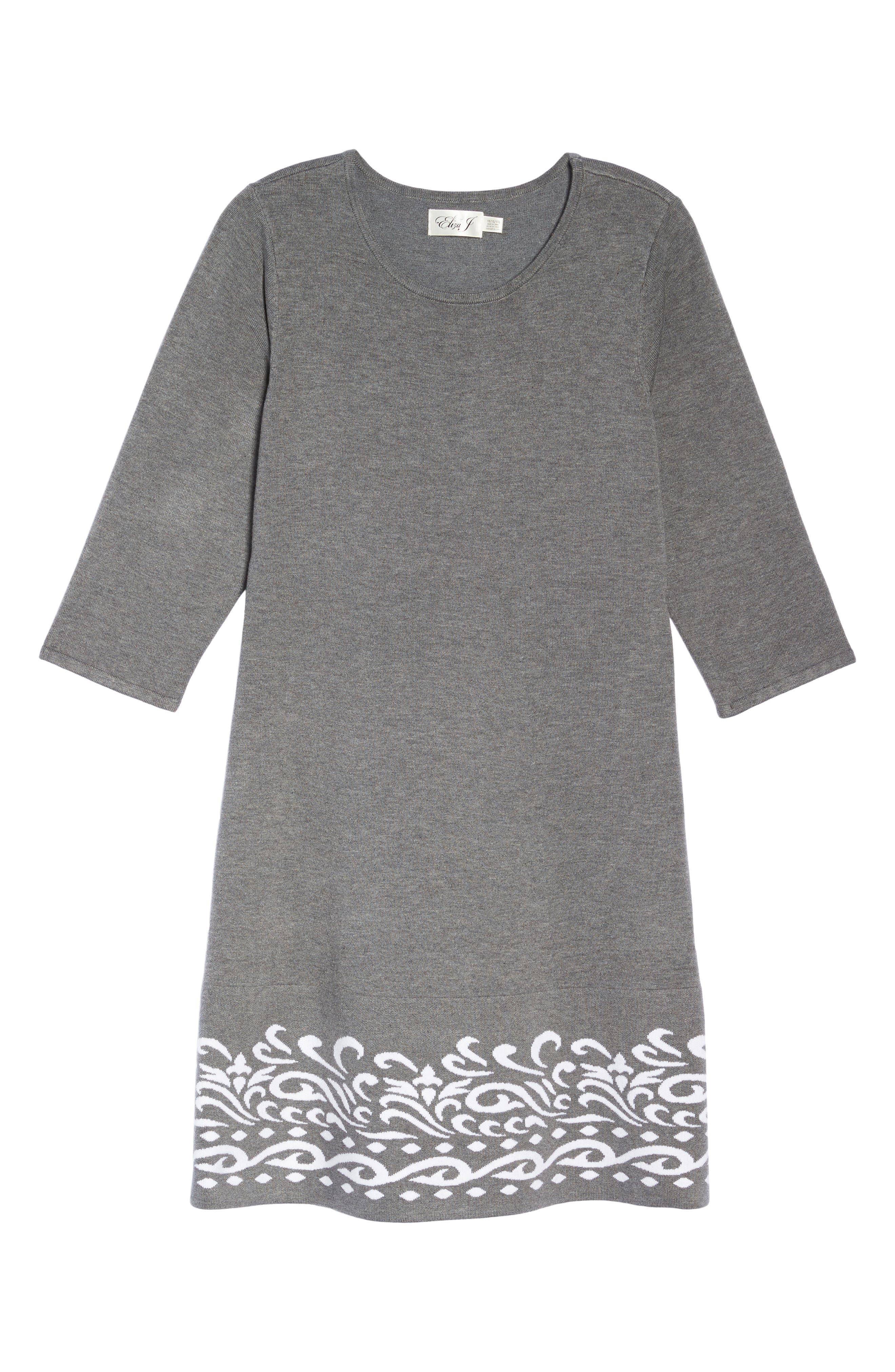 Alternate Image 6  - Eliza J A-Line Sweater Dress (Plus Size)