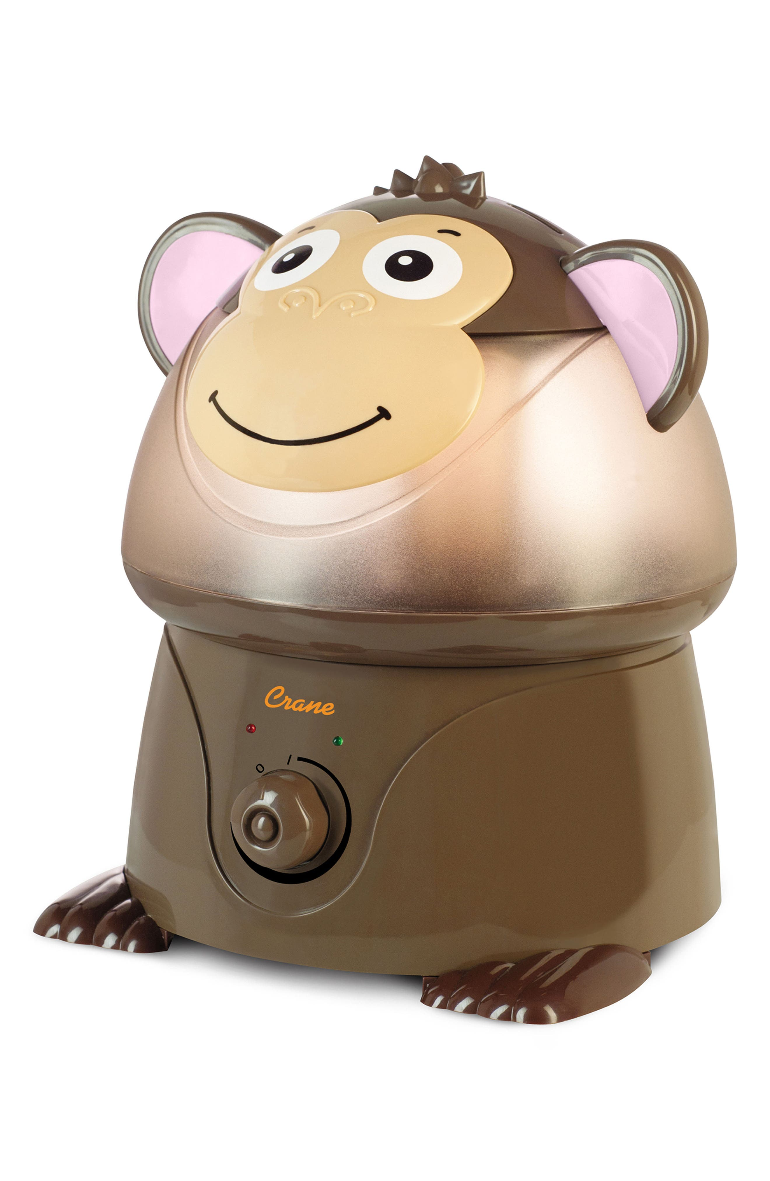 Monkey Ultrasonic Cool-Mist Humidifier,                             Main thumbnail 1, color,                             Brown