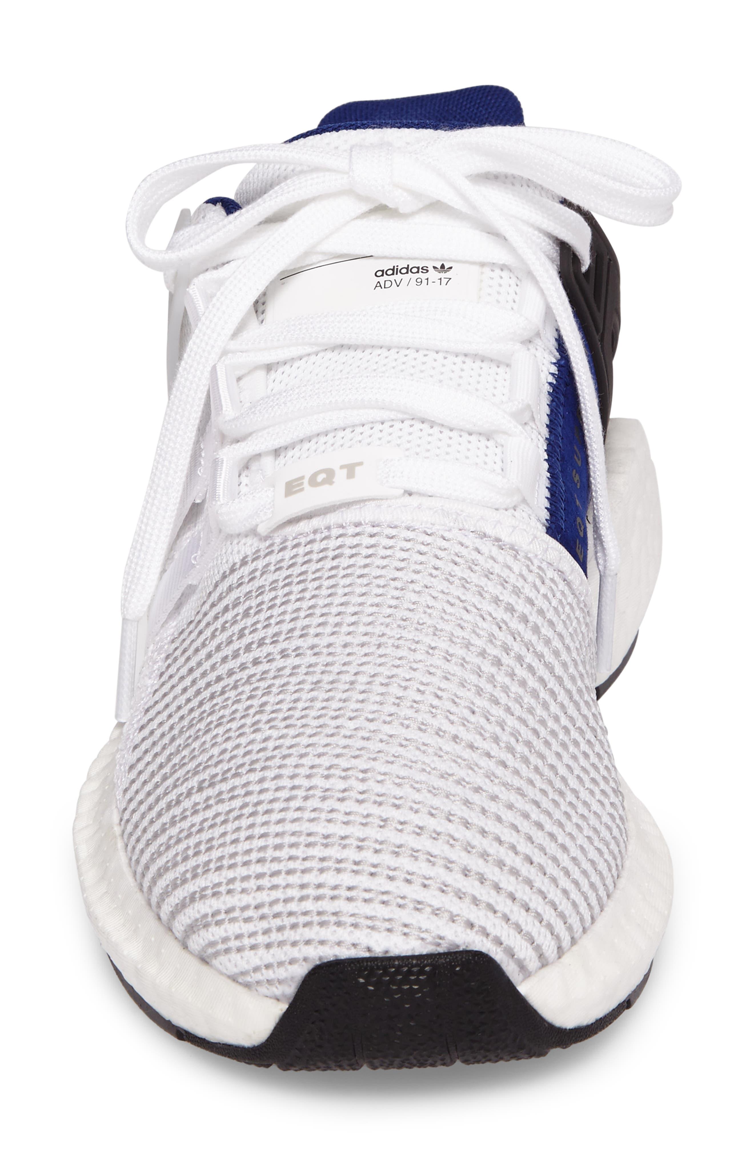 EQT Support 93/17 Sneaker,                             Alternate thumbnail 4, color,                             White/ White/ Core Black