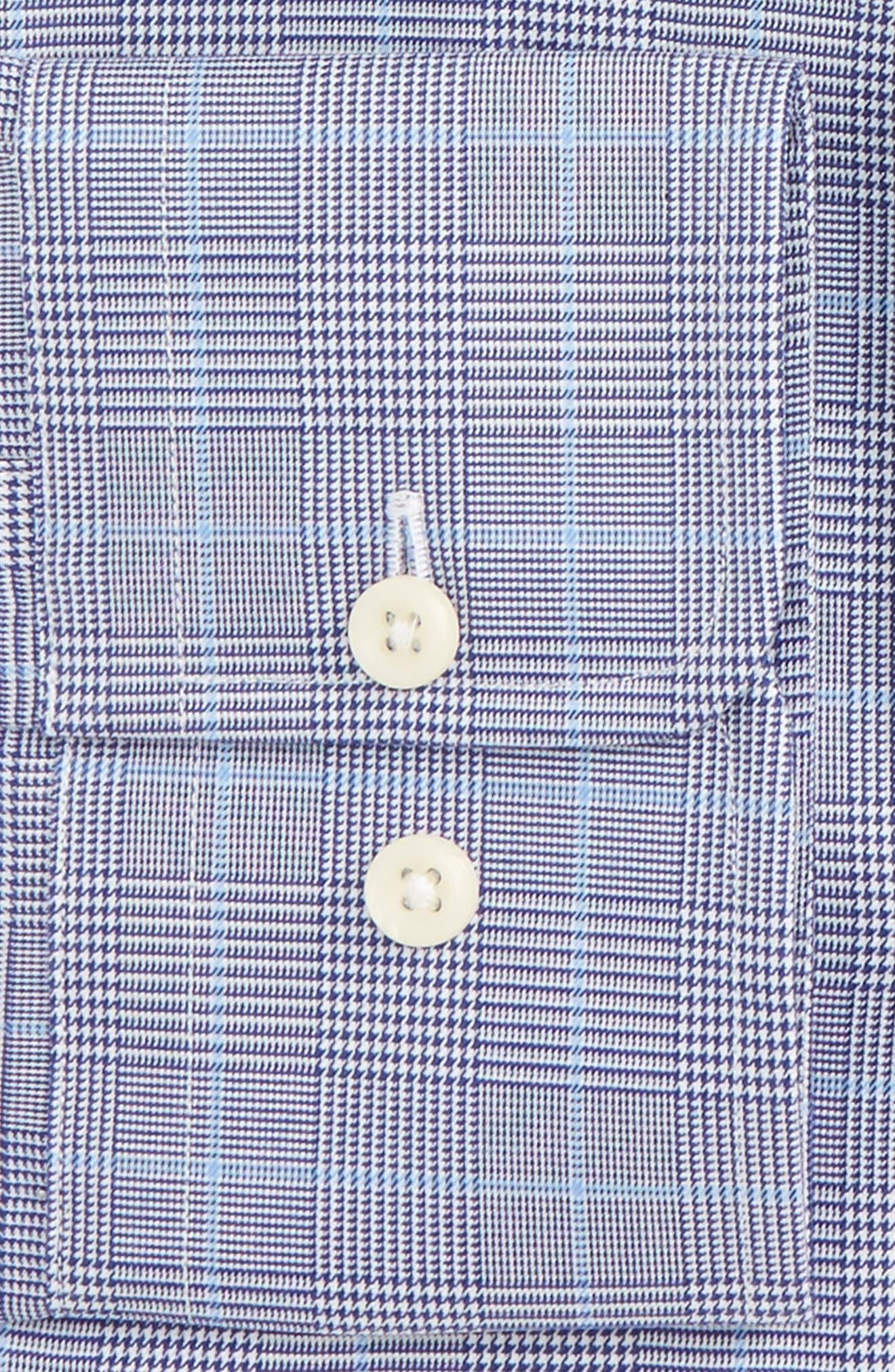 Regular Fit Plaid Dress Shirt,                             Alternate thumbnail 2, color,                             Navy