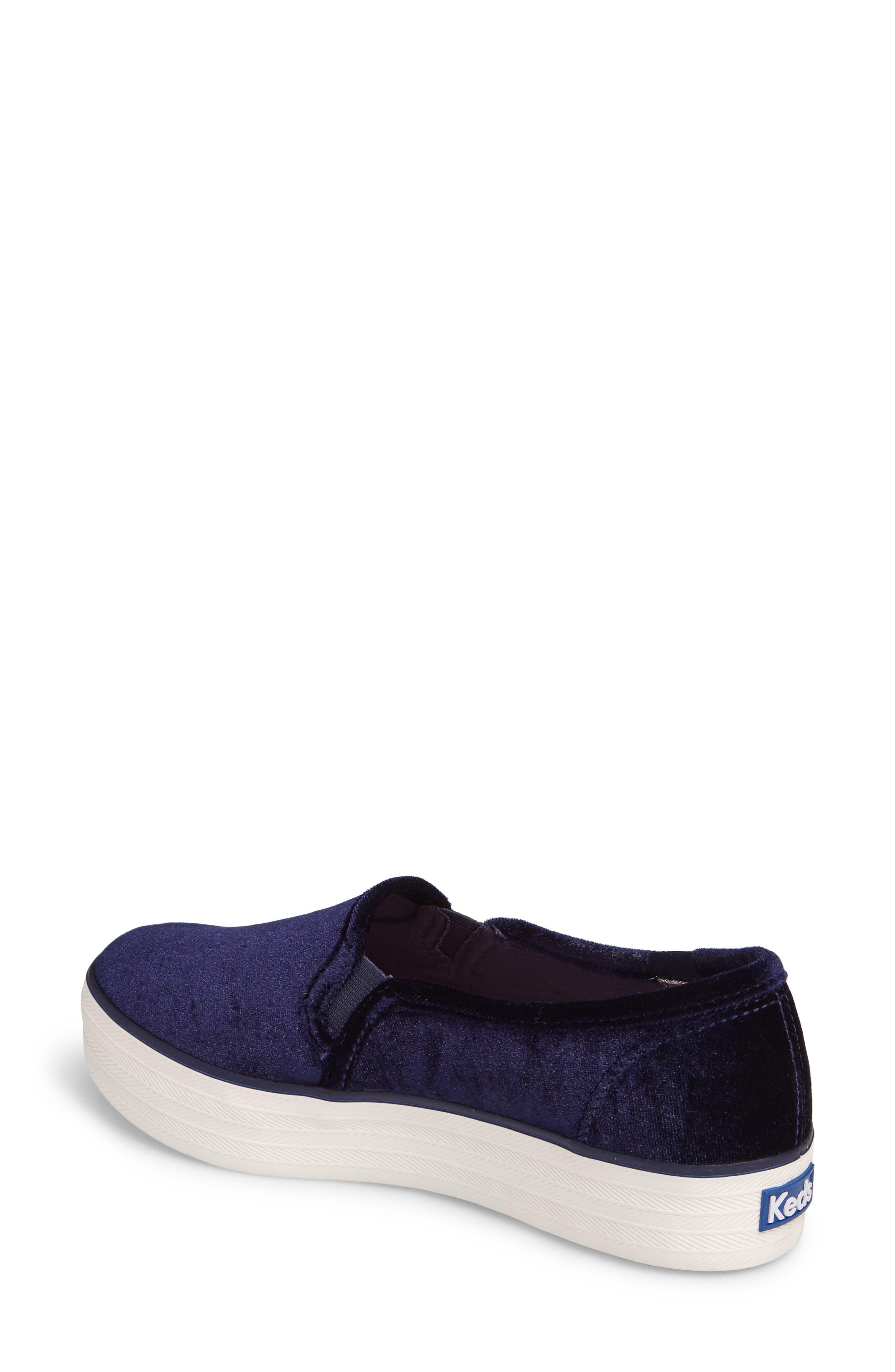Triple Decker Slip-On Platform Sneaker,                             Alternate thumbnail 2, color,                             Navy Velvet