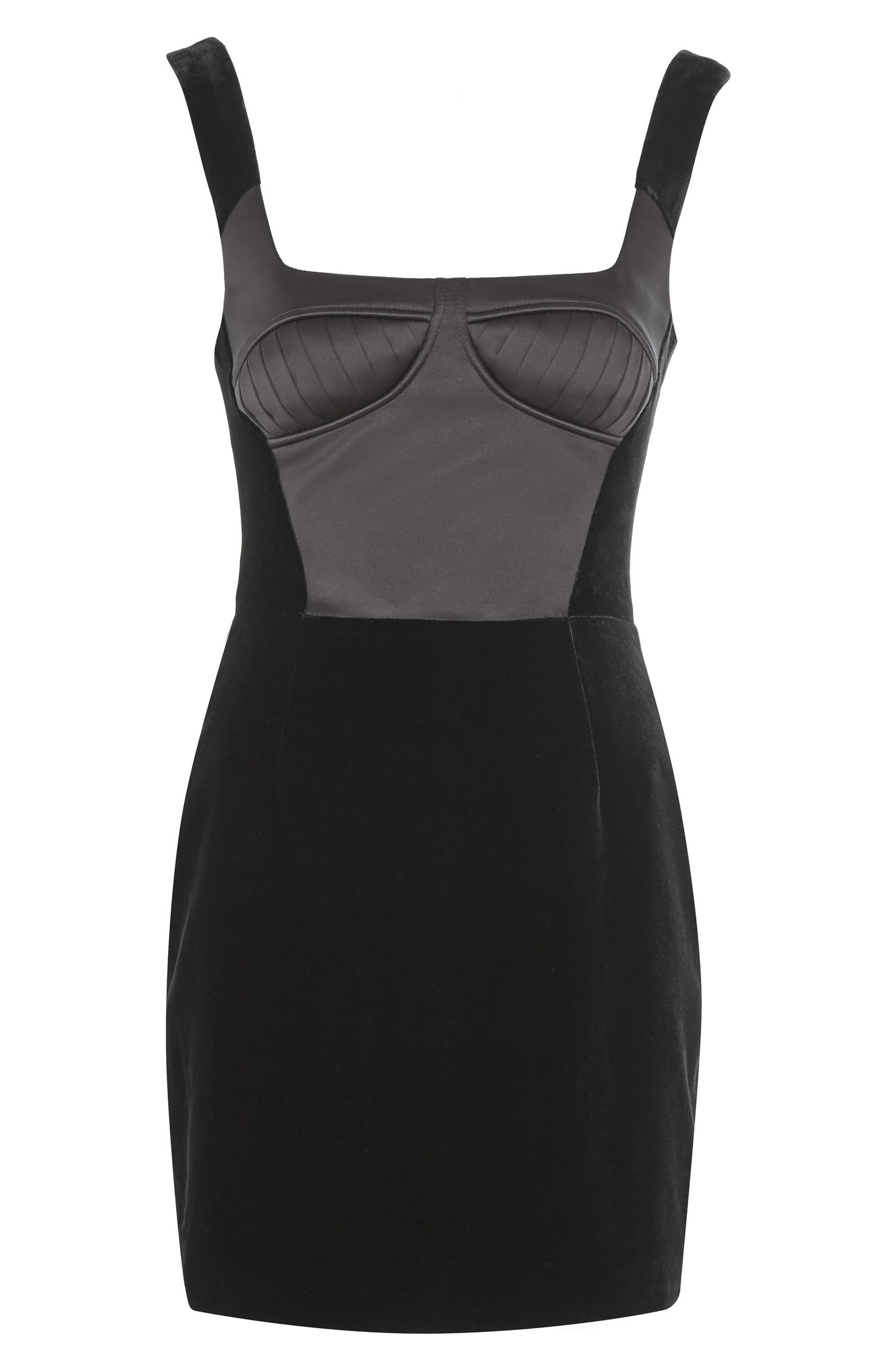 Alternate Image 7  - Topshop Velvet Minidress