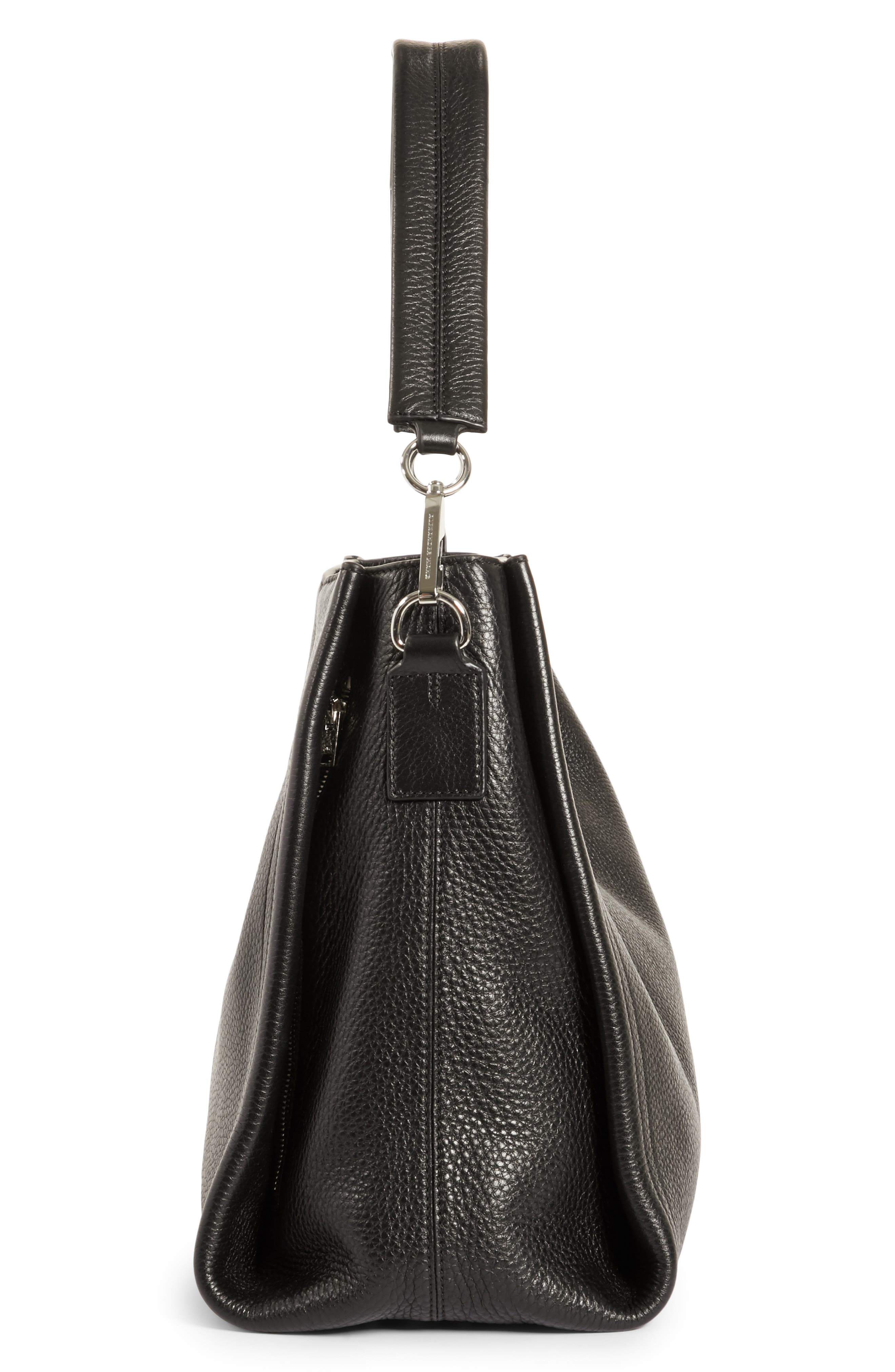 Darcy Leather Hobo,                             Alternate thumbnail 5, color,                             Black