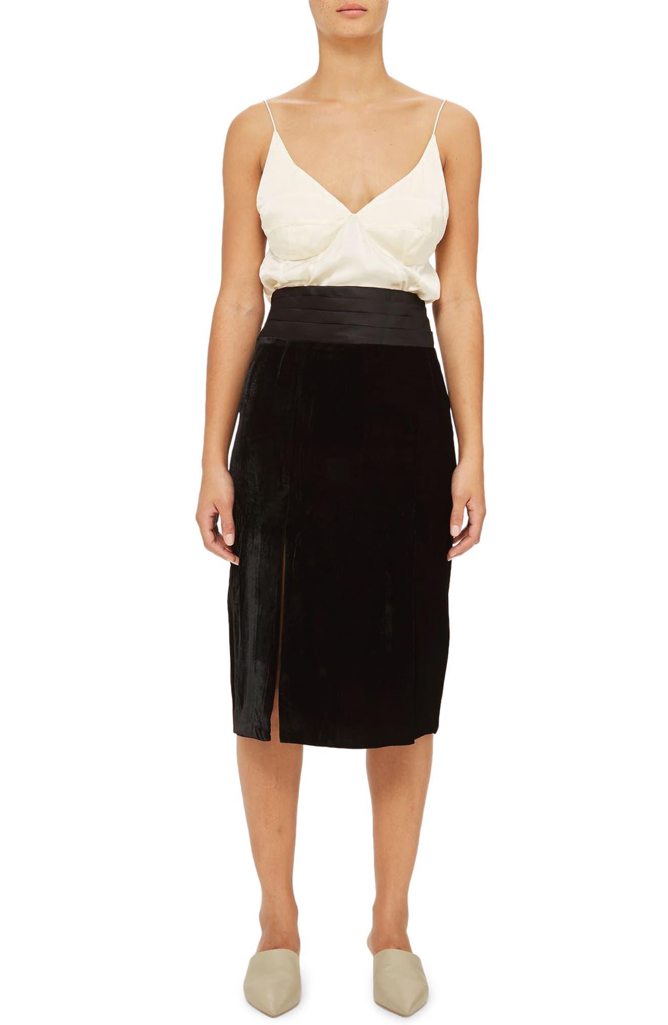 Topshop Cummerbund Skirt
