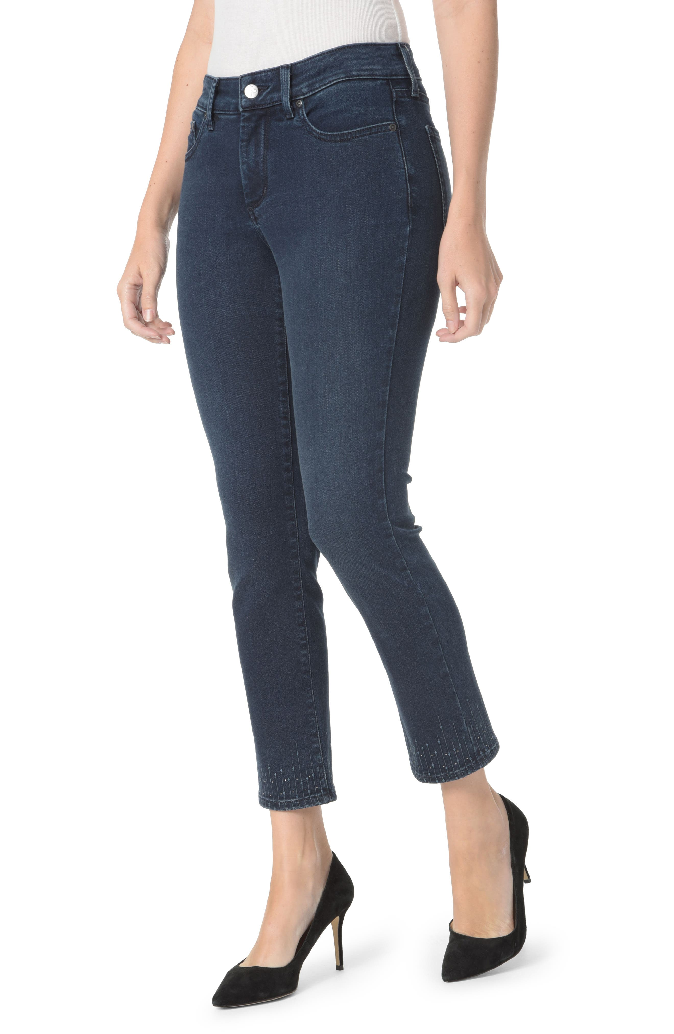 Sheri Embroidered Ankle Skinny Jeans,                         Main,                         color, Varick