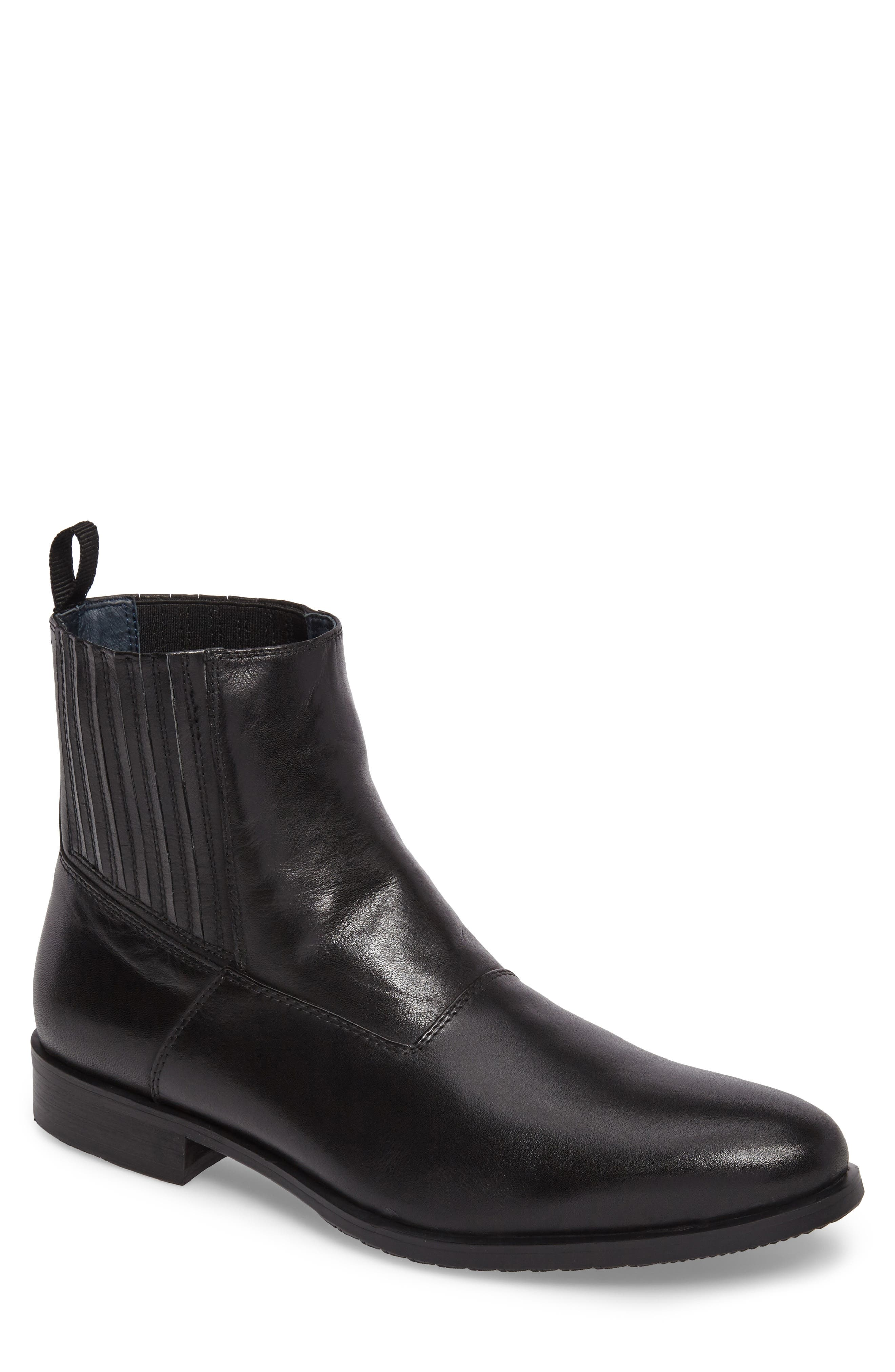 Guardi Zip Boot,                         Main,                         color, Black Leather