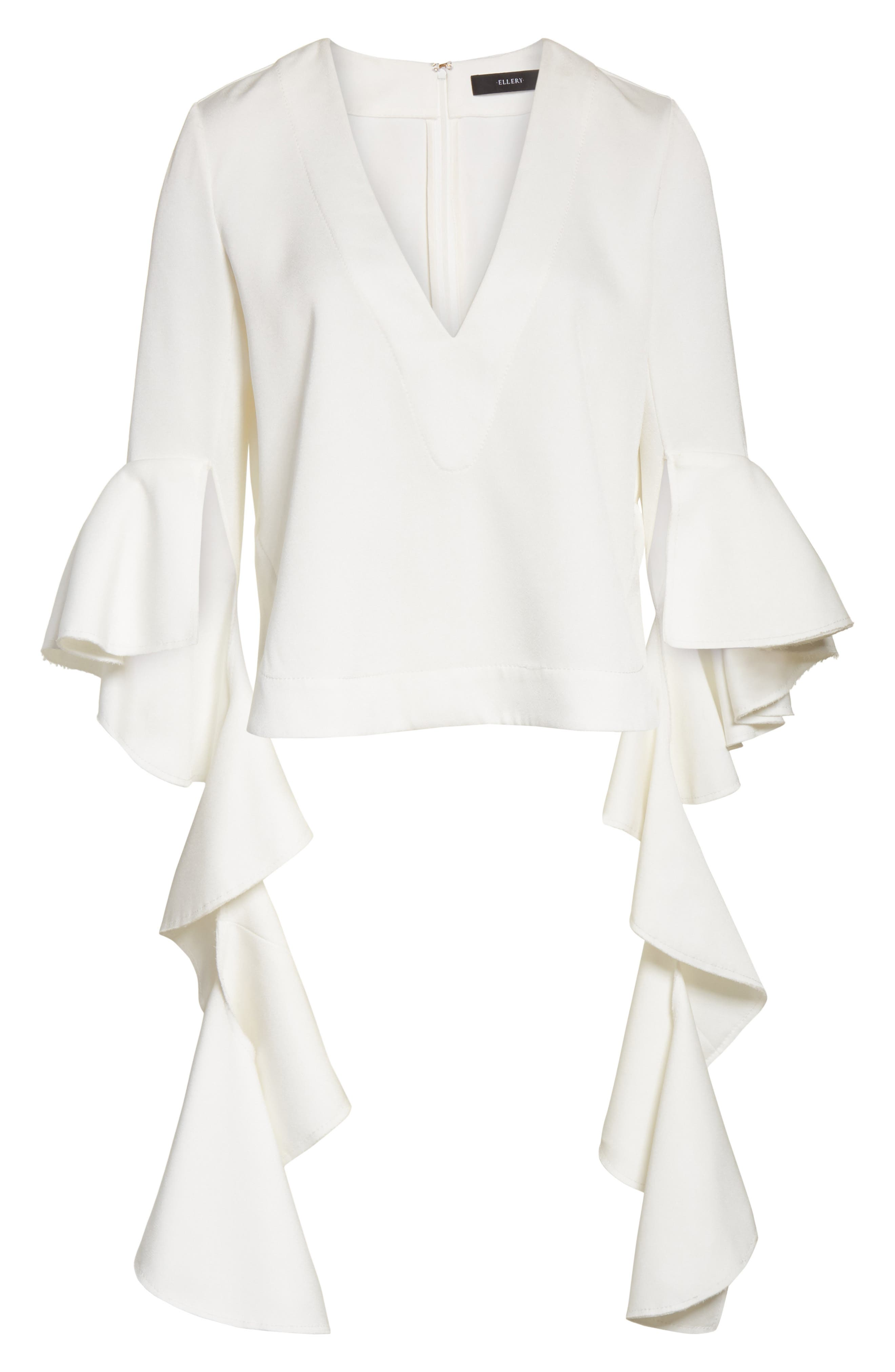 Alternate Image 6  - ELLERY Ace Frill Sleeve V-Neck Top