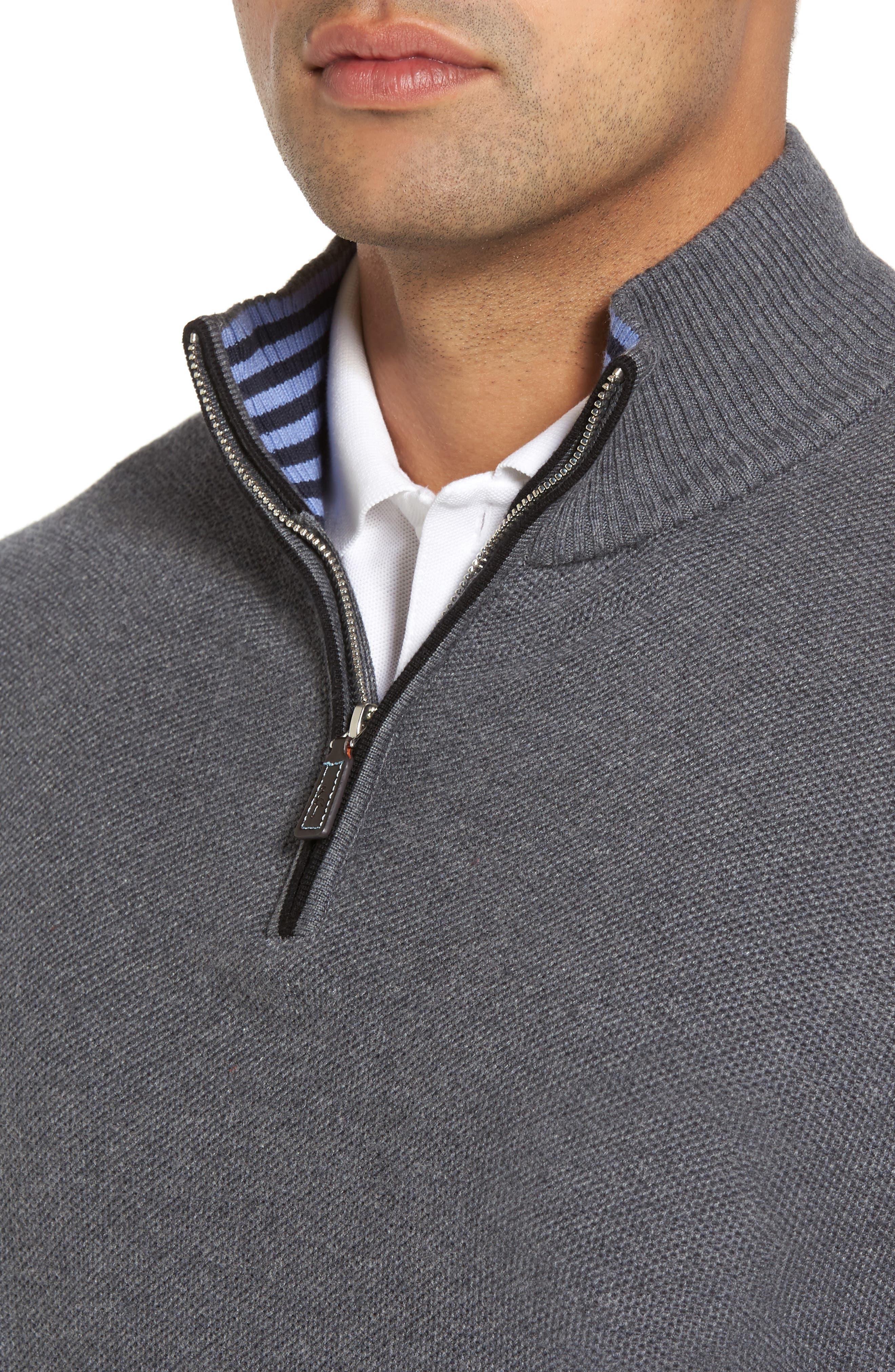 Alternate Image 4  - TailorByrd Kinder Quarter Zip Pullover
