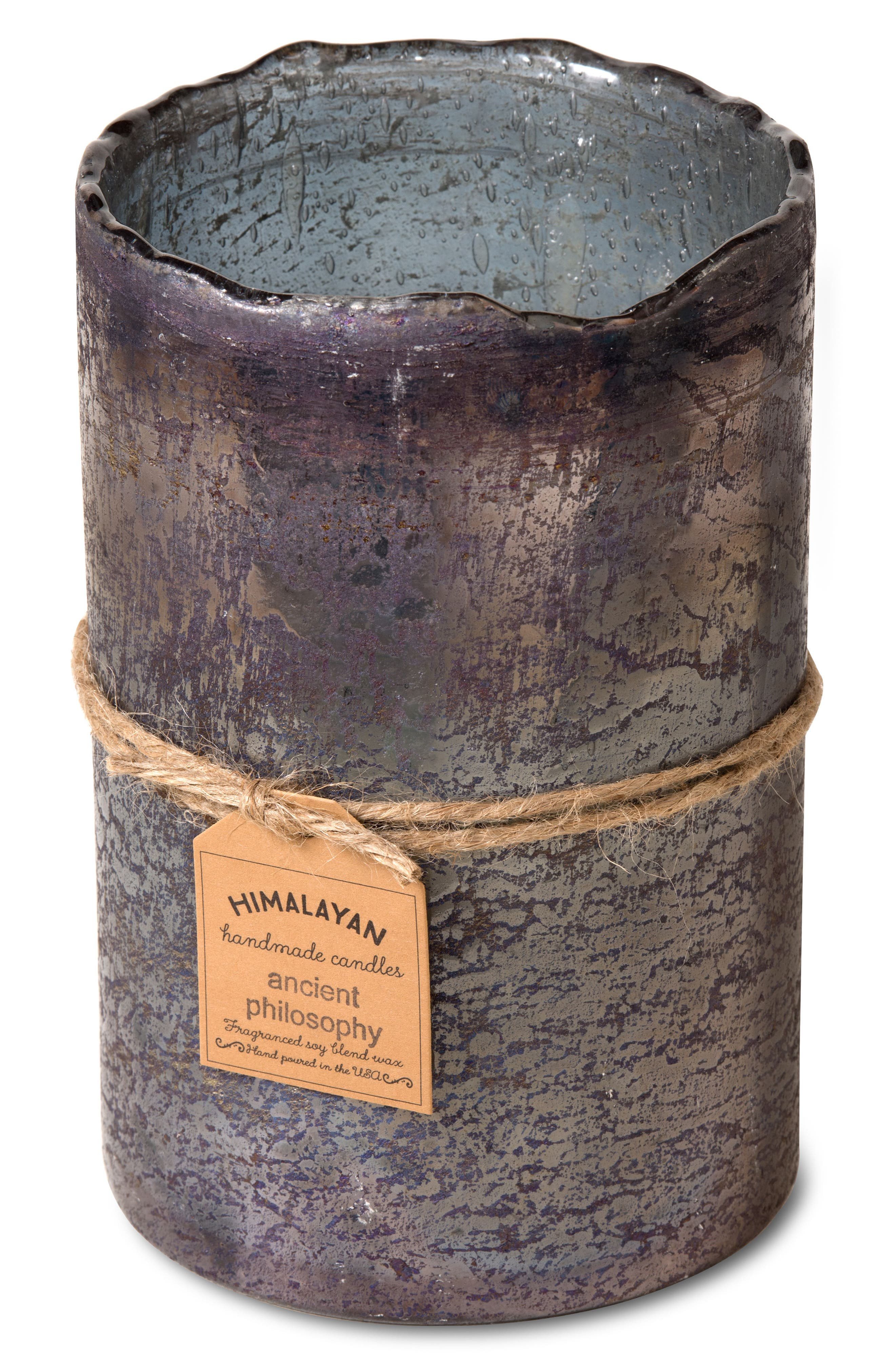 Alternate Image 2  - Himalayan Trading Post Smoky Grey Scented Hurricane Candle