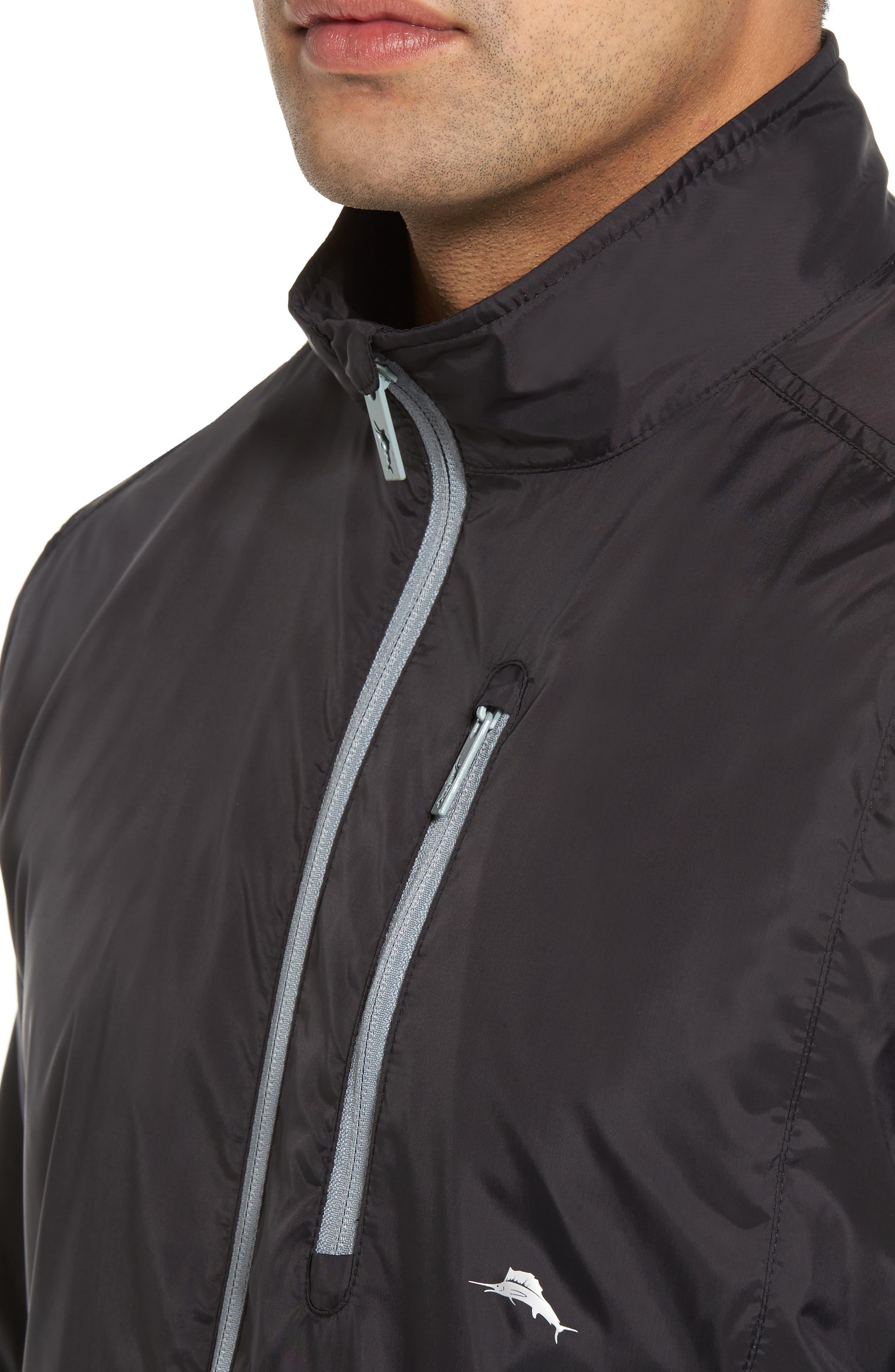 Nine Iron Water-Repellent Jacket,                             Alternate thumbnail 4, color,                             Black