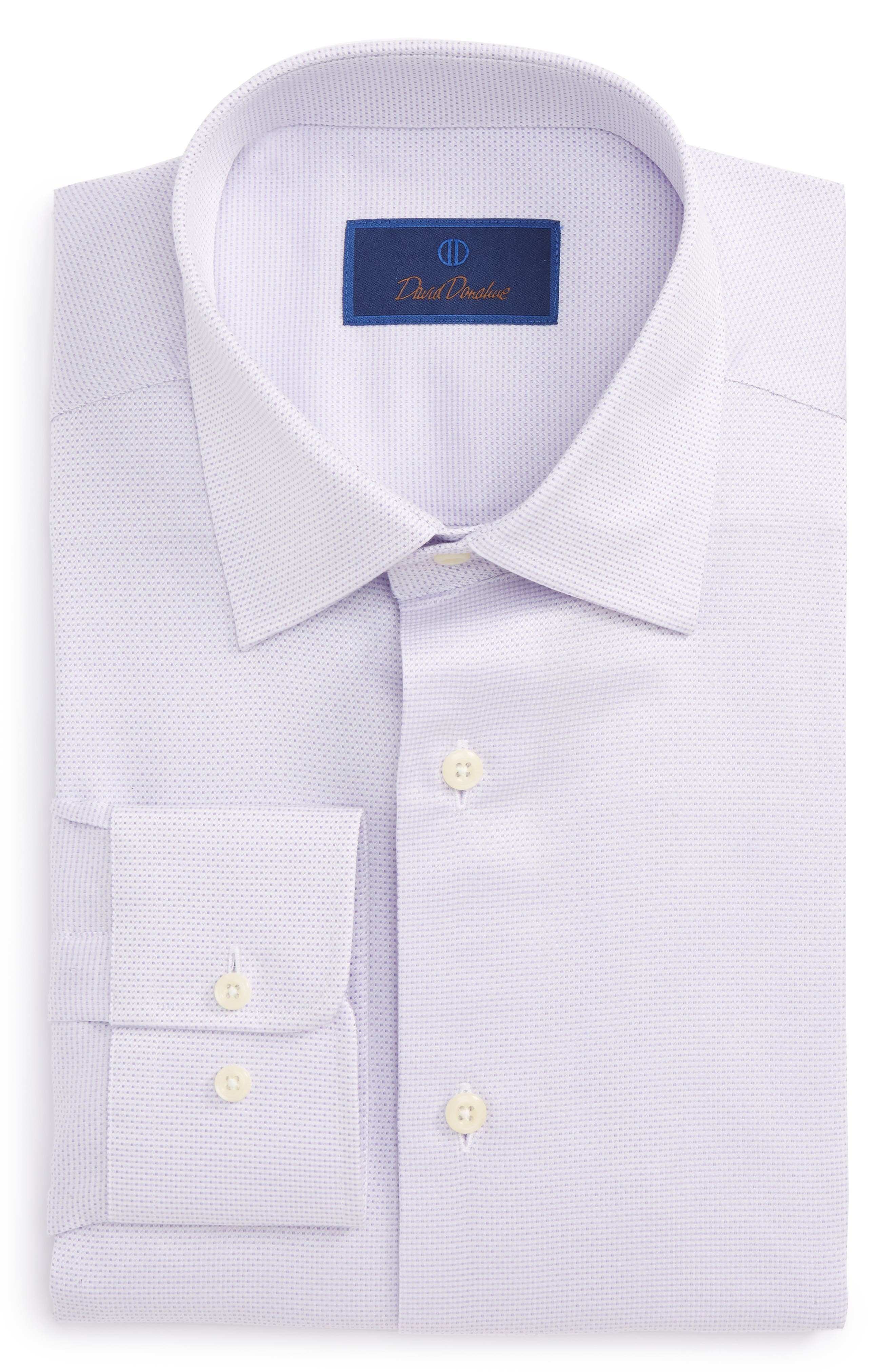 Regular Fit Solid Dress Shirt,                         Main,                         color, Lilac