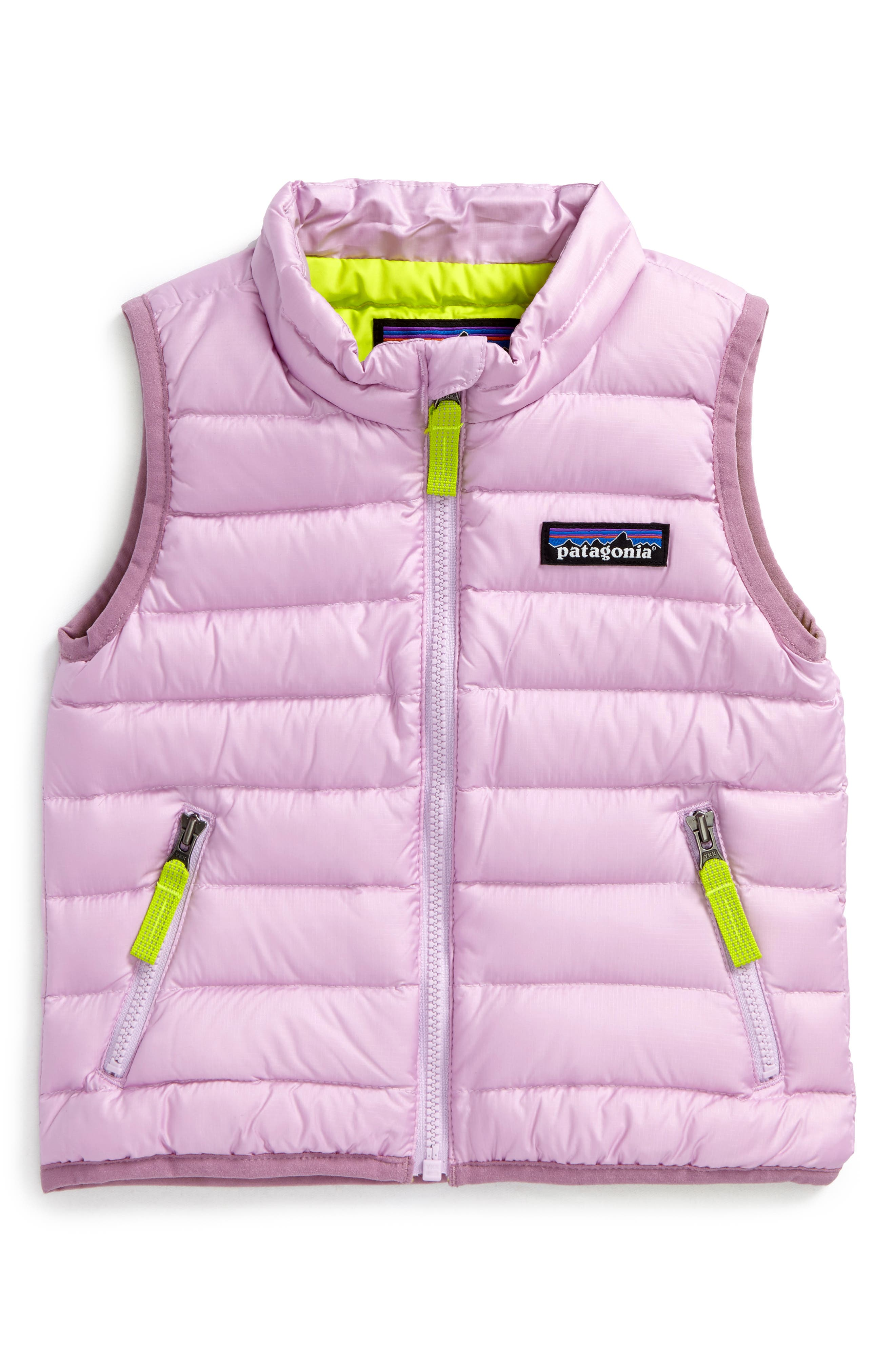 Main Image - Patagonia Water Repellent Down Sweater Vest (Baby Girls)